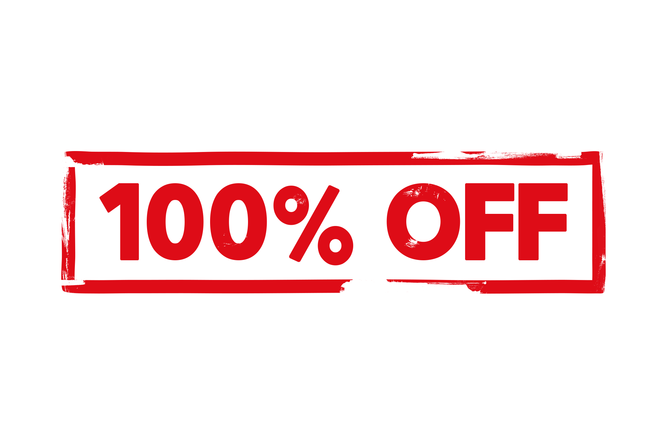 100 percent off stamp PSD