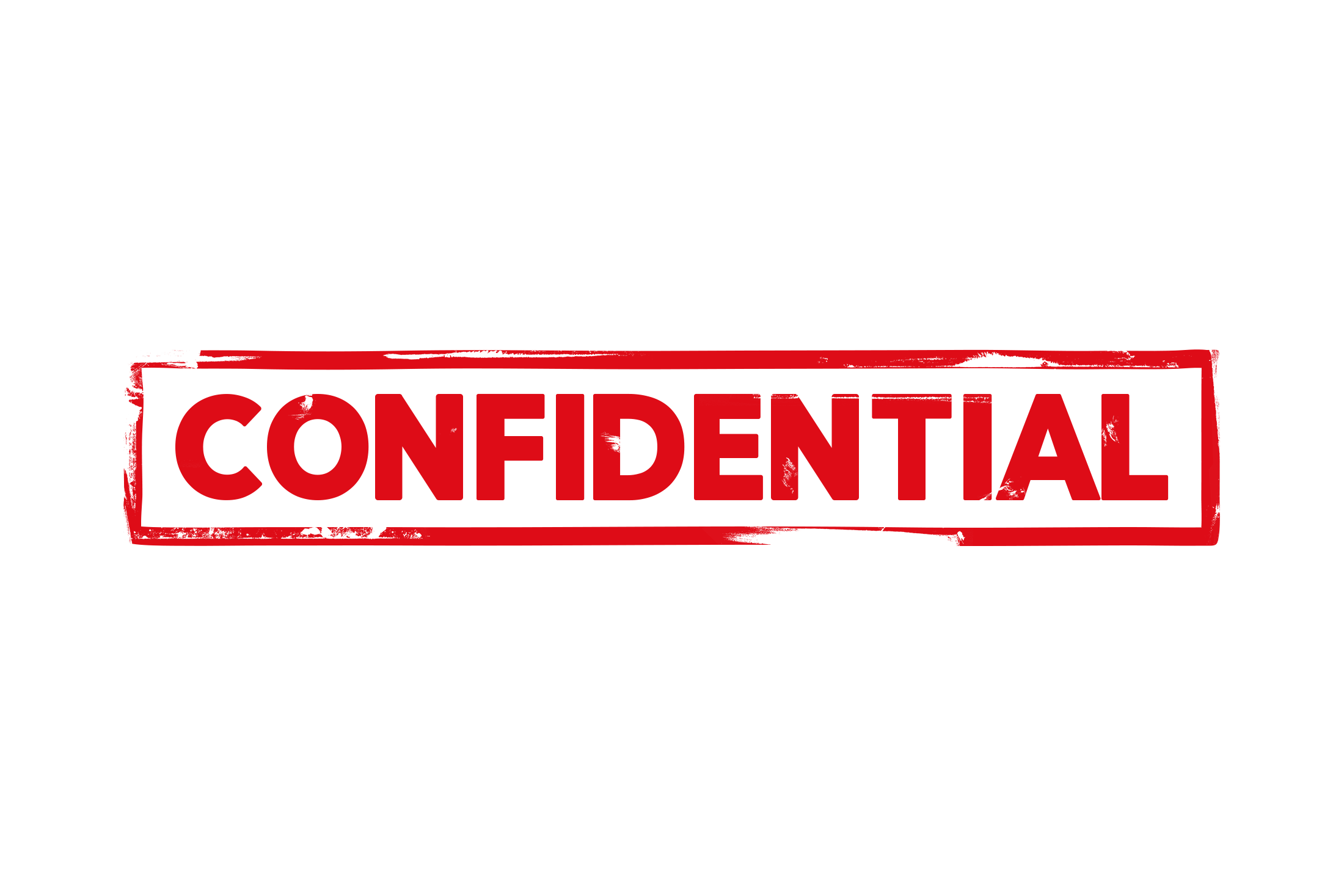 Confidential stamp PSD