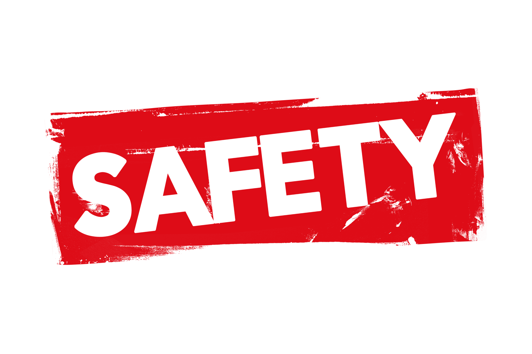 Grunge safety label PSD