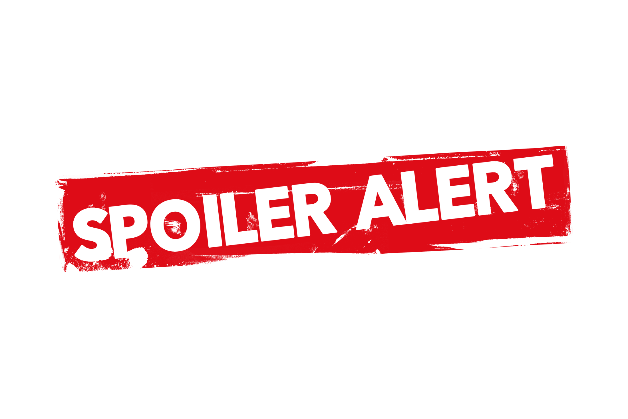 Grunge spoiler alert label PSD