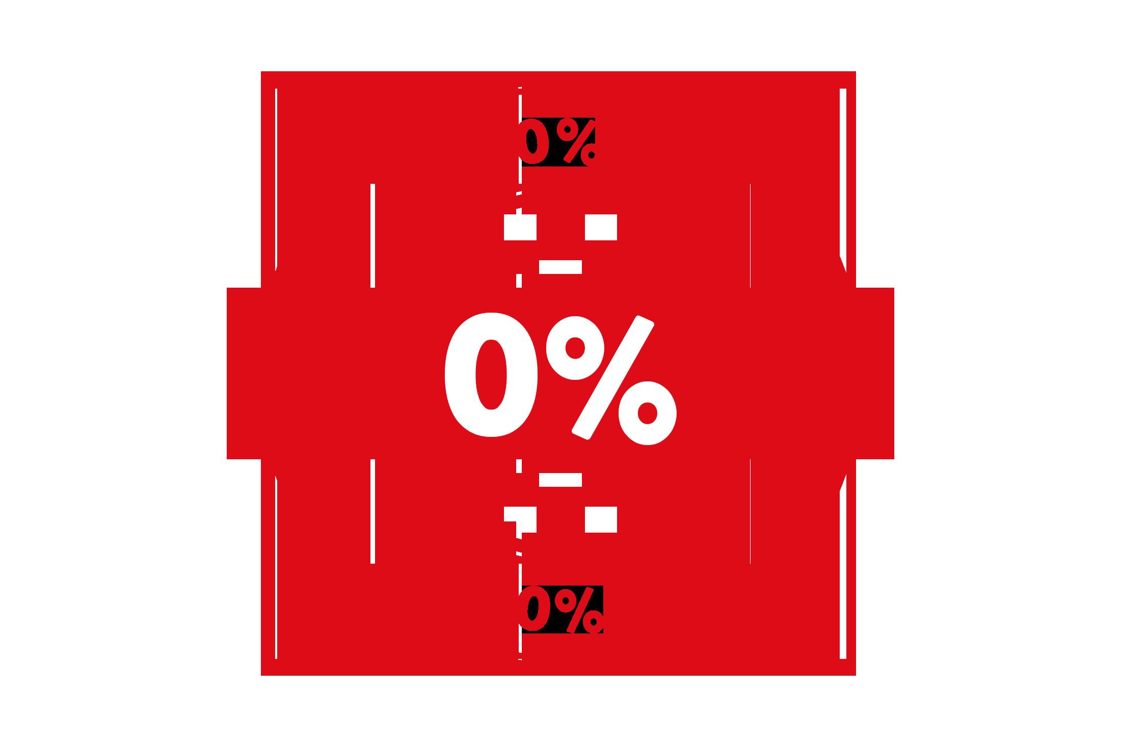 Round 0 percent stamp PSD
