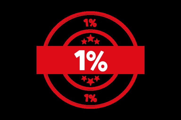Round 1 percent stamp PSD