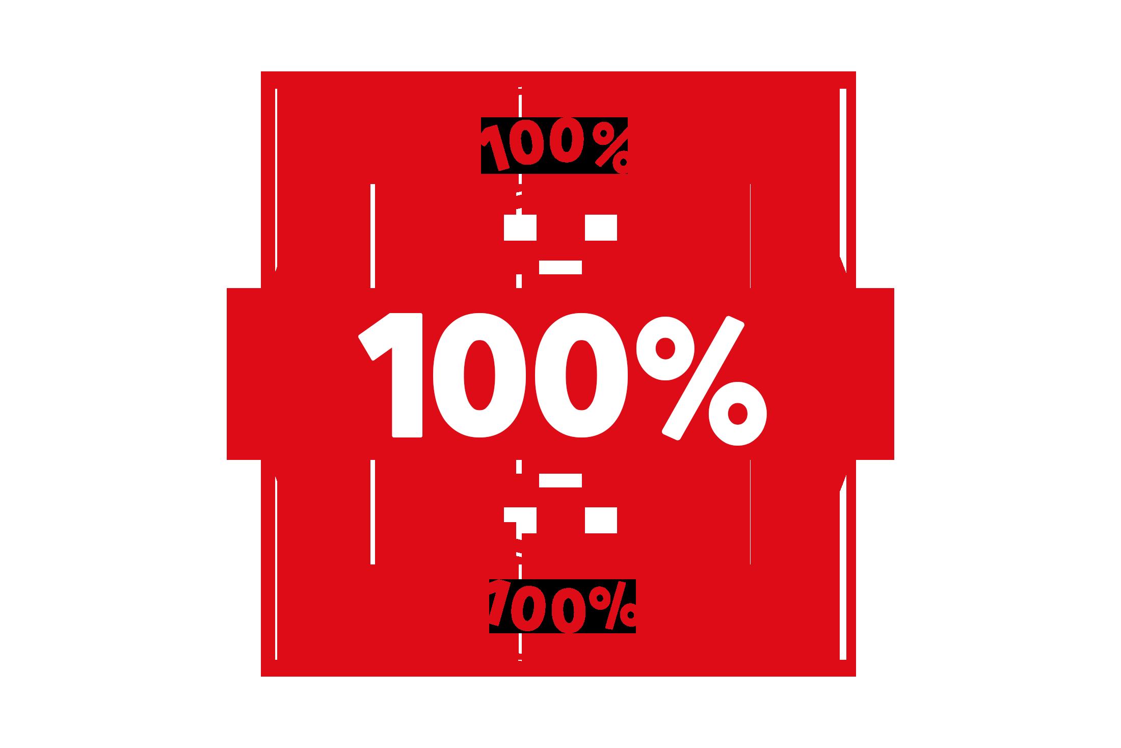 Round 100 percent stamp PSD