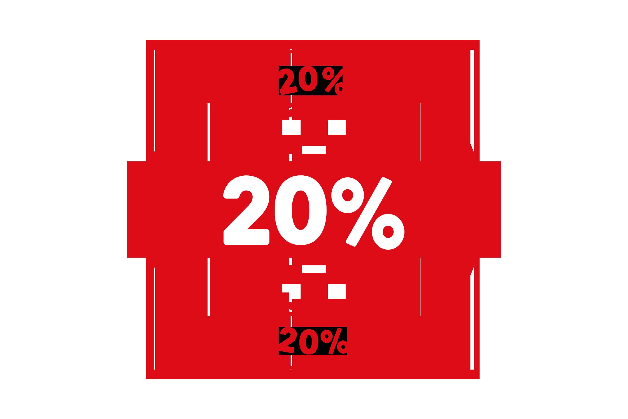 Round 20 percent stamp PSD