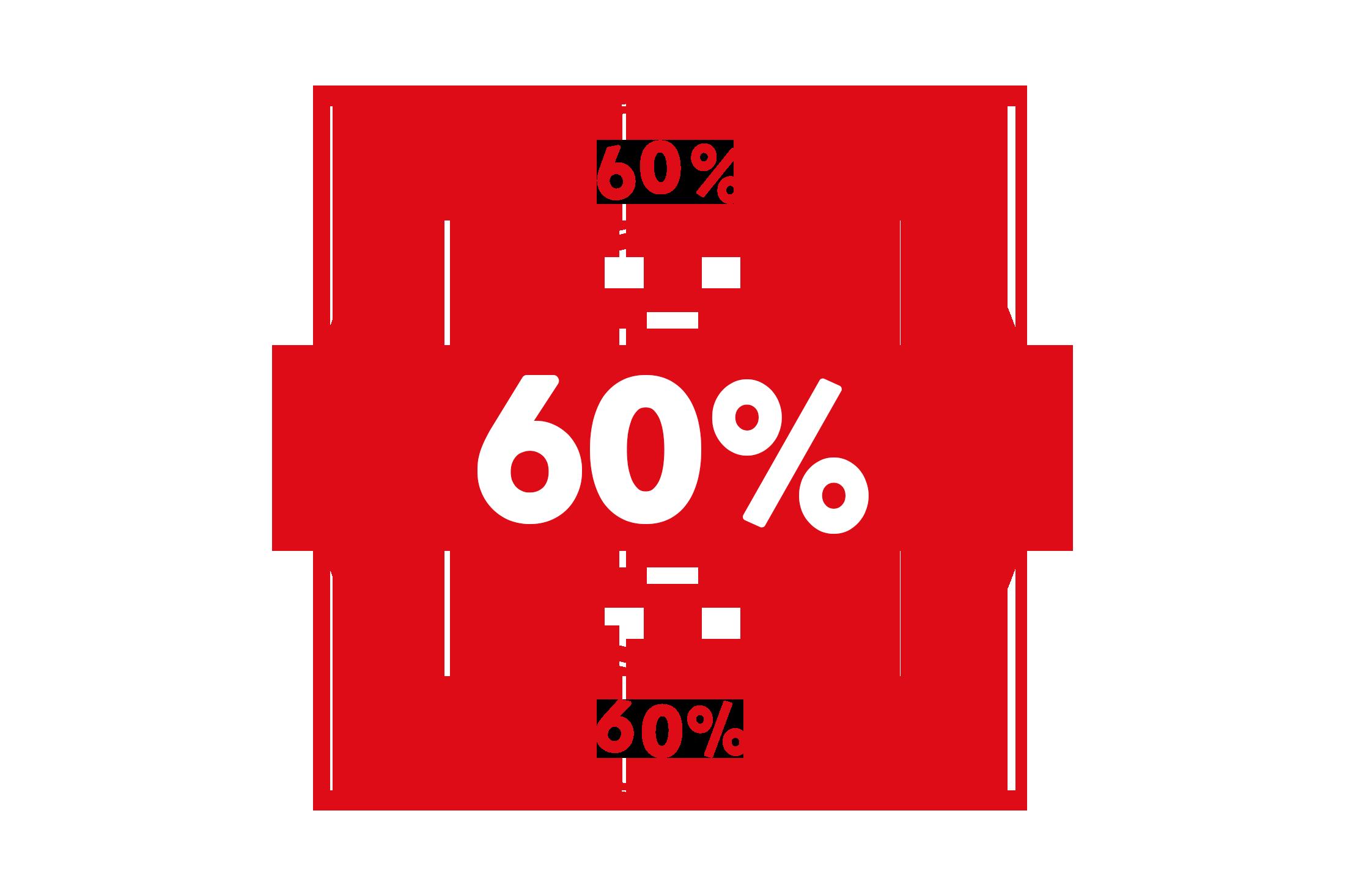 Round 60 percent stamp PSD