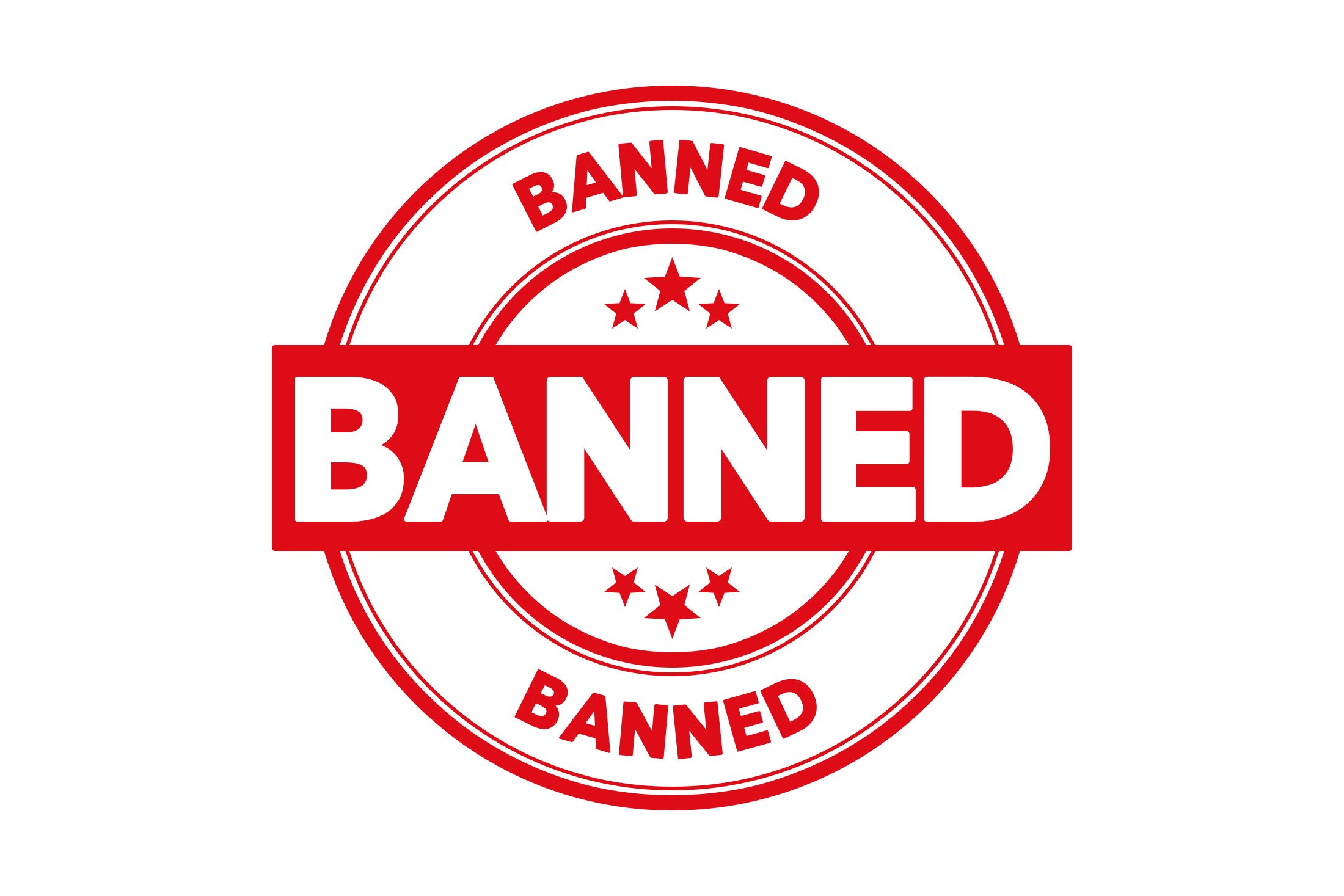 Round banned stamp PSD