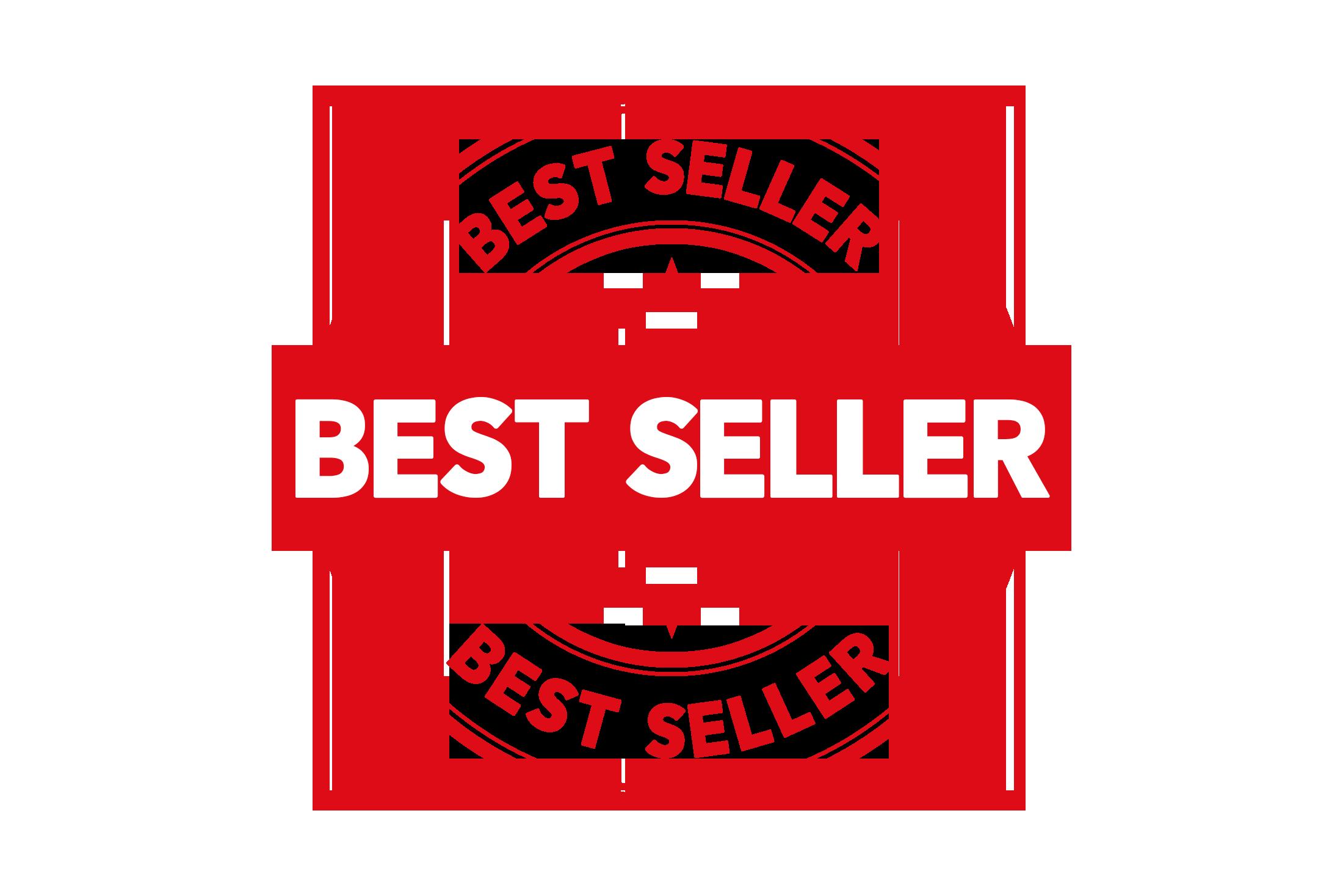 Round best seller stamp PSD