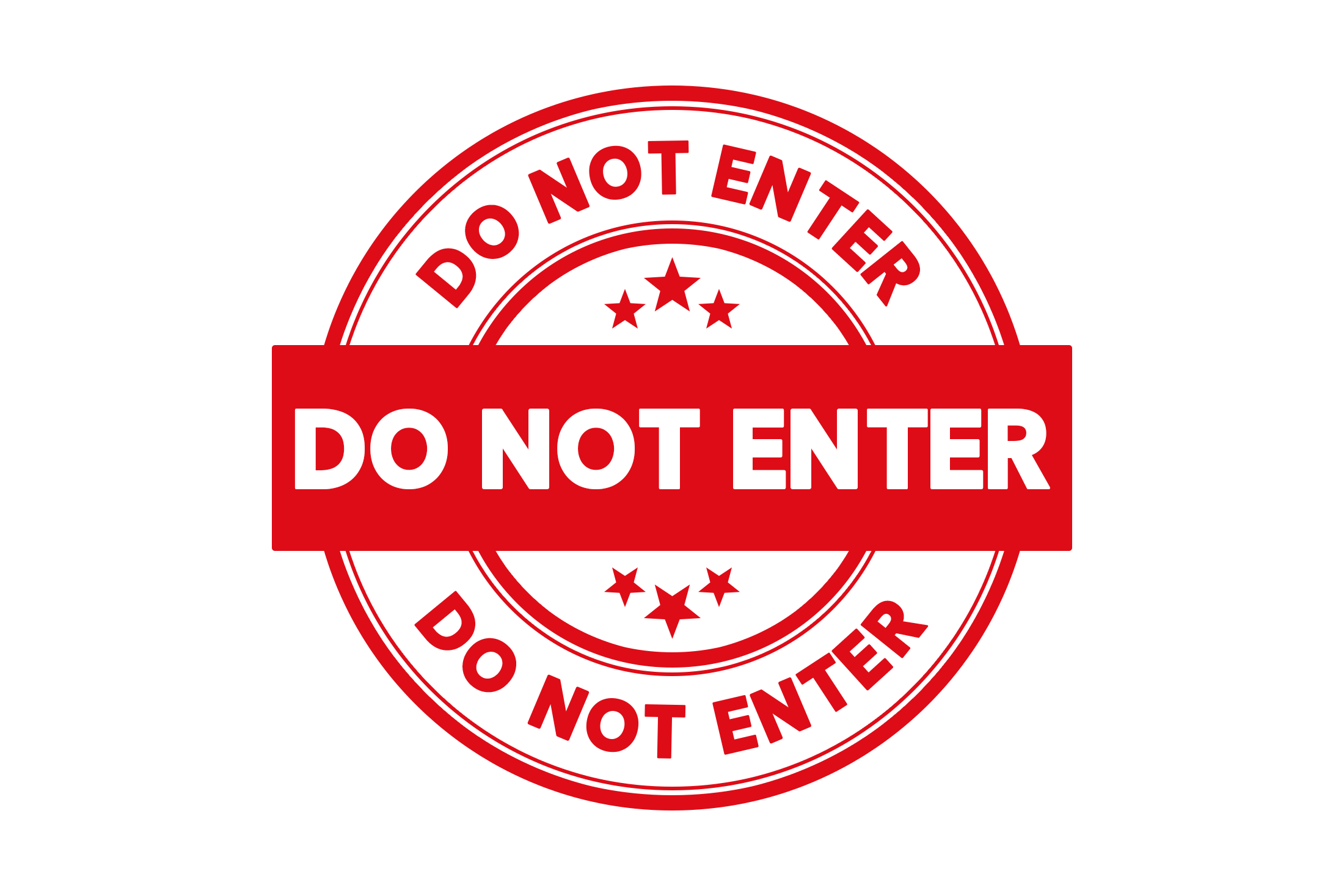 Round do not enter stamp PSD