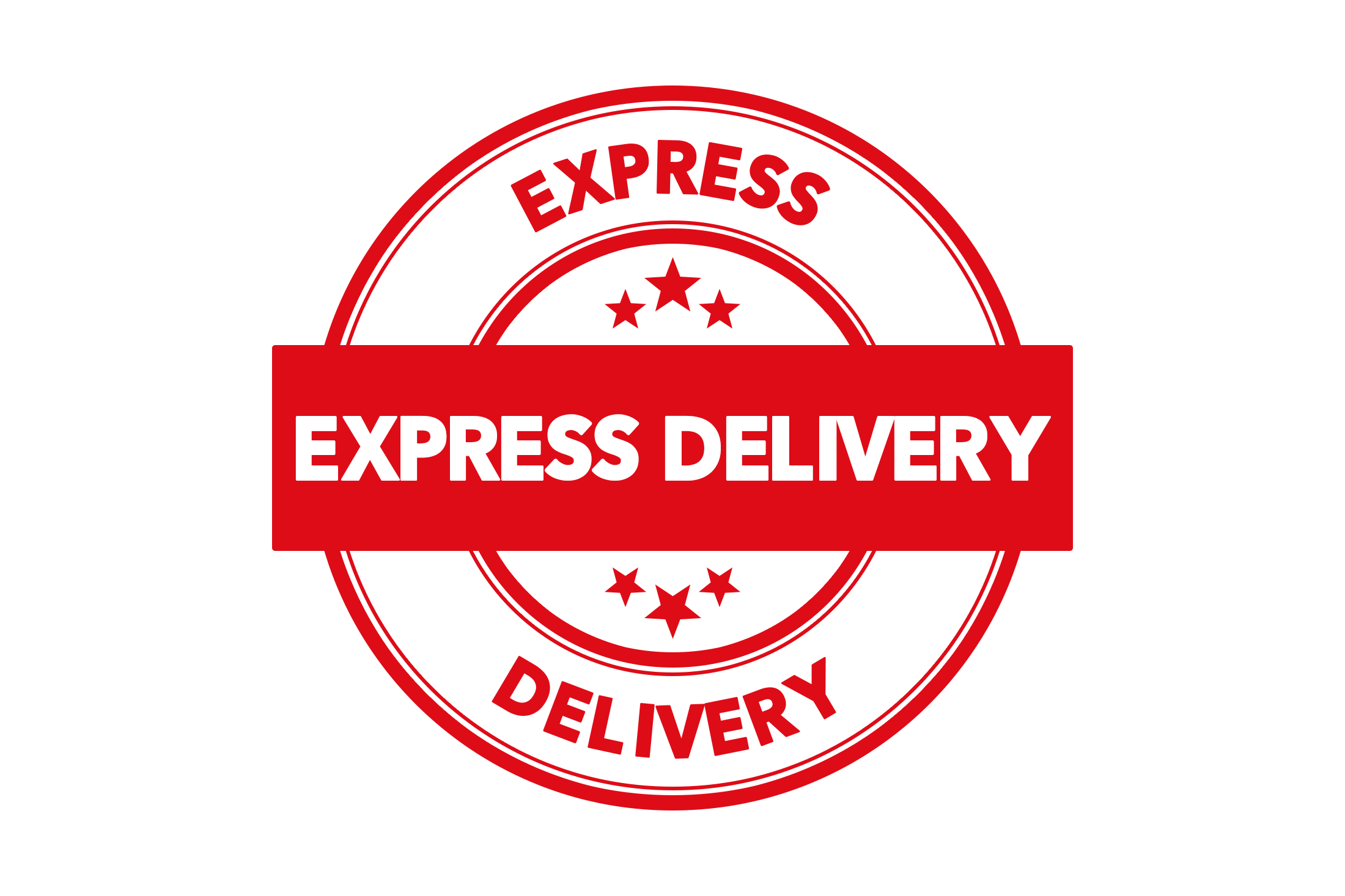 Round express delivery stamp PSD