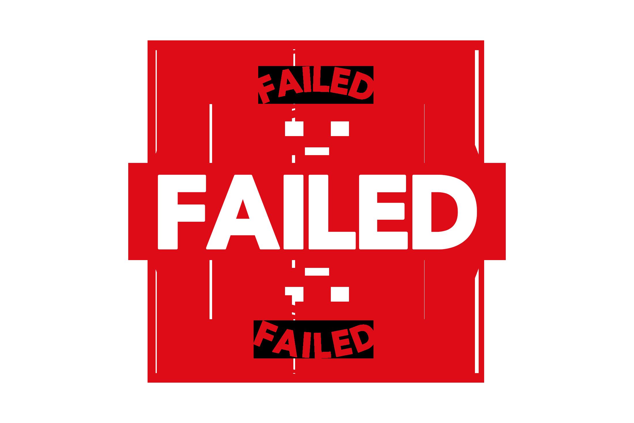 Round failed stamp PSD