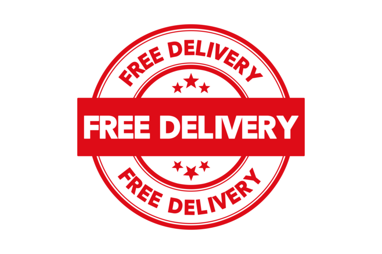 Round free delivery stamp PSD