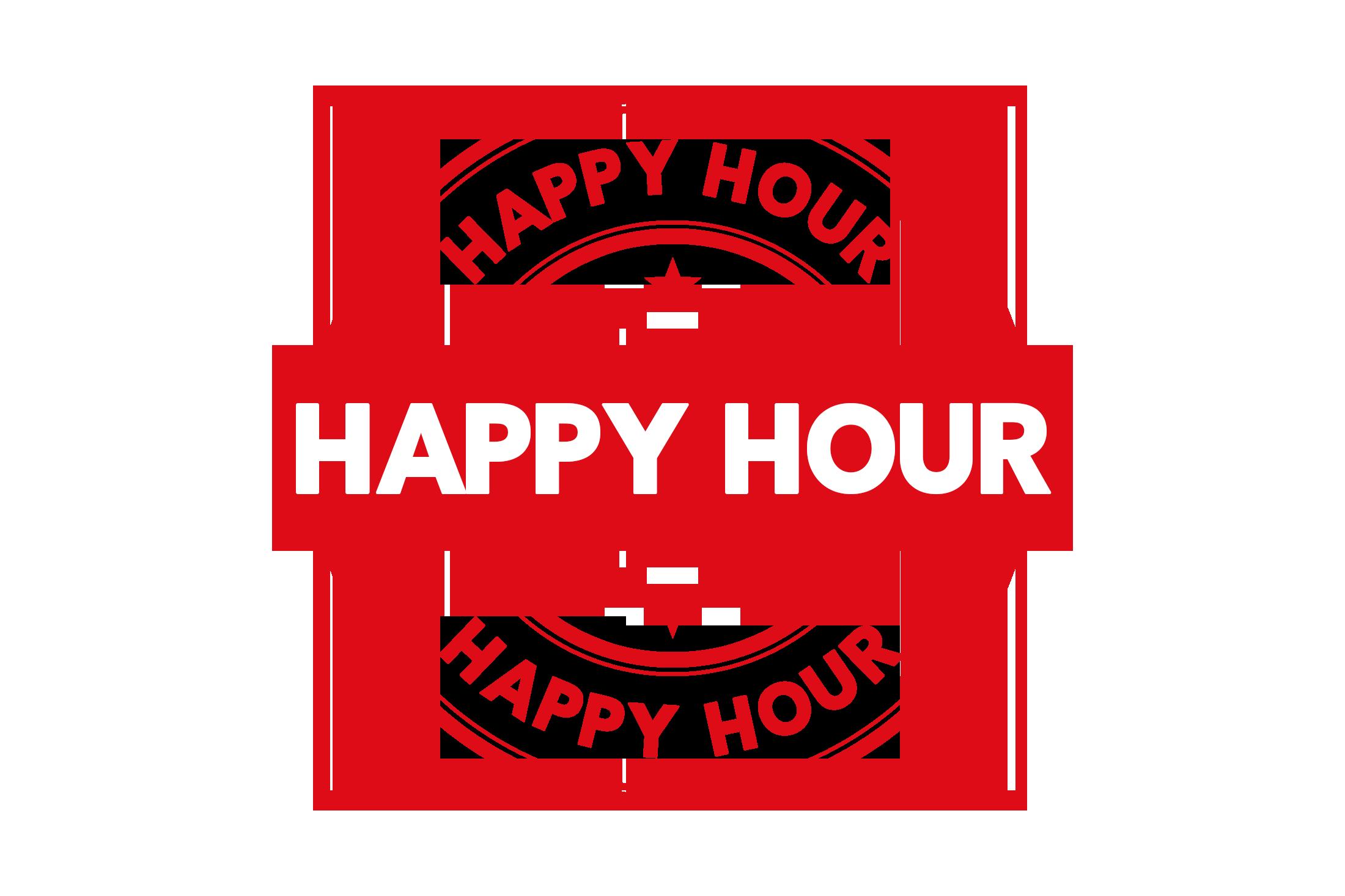 Round happy hour stamp PSD