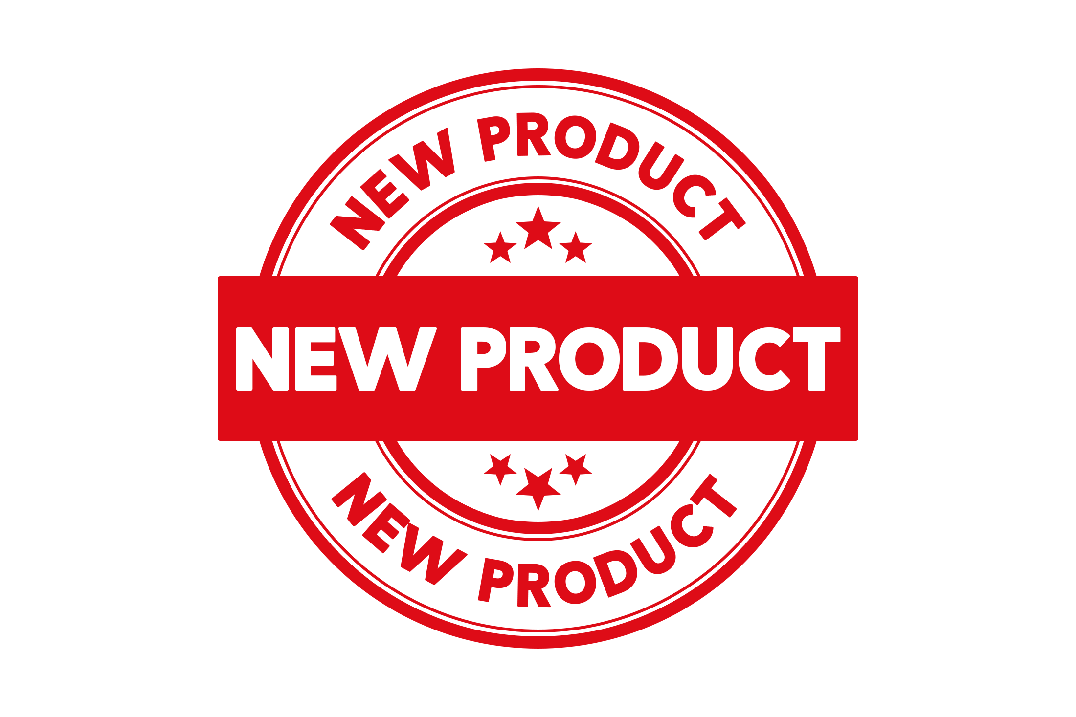 Round new product stamp PSD