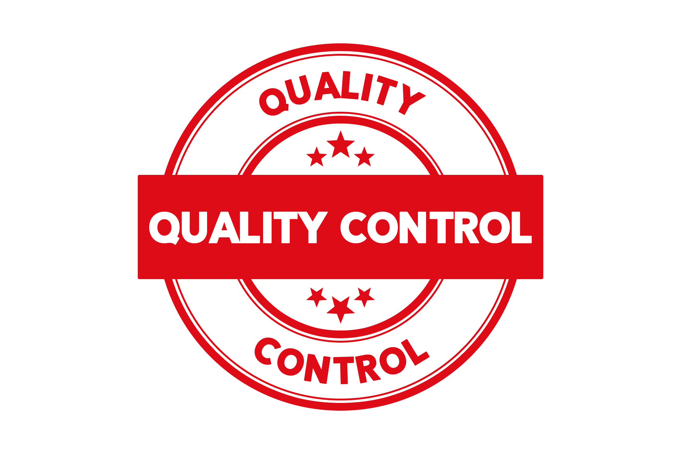 Round quality control stamp PSD