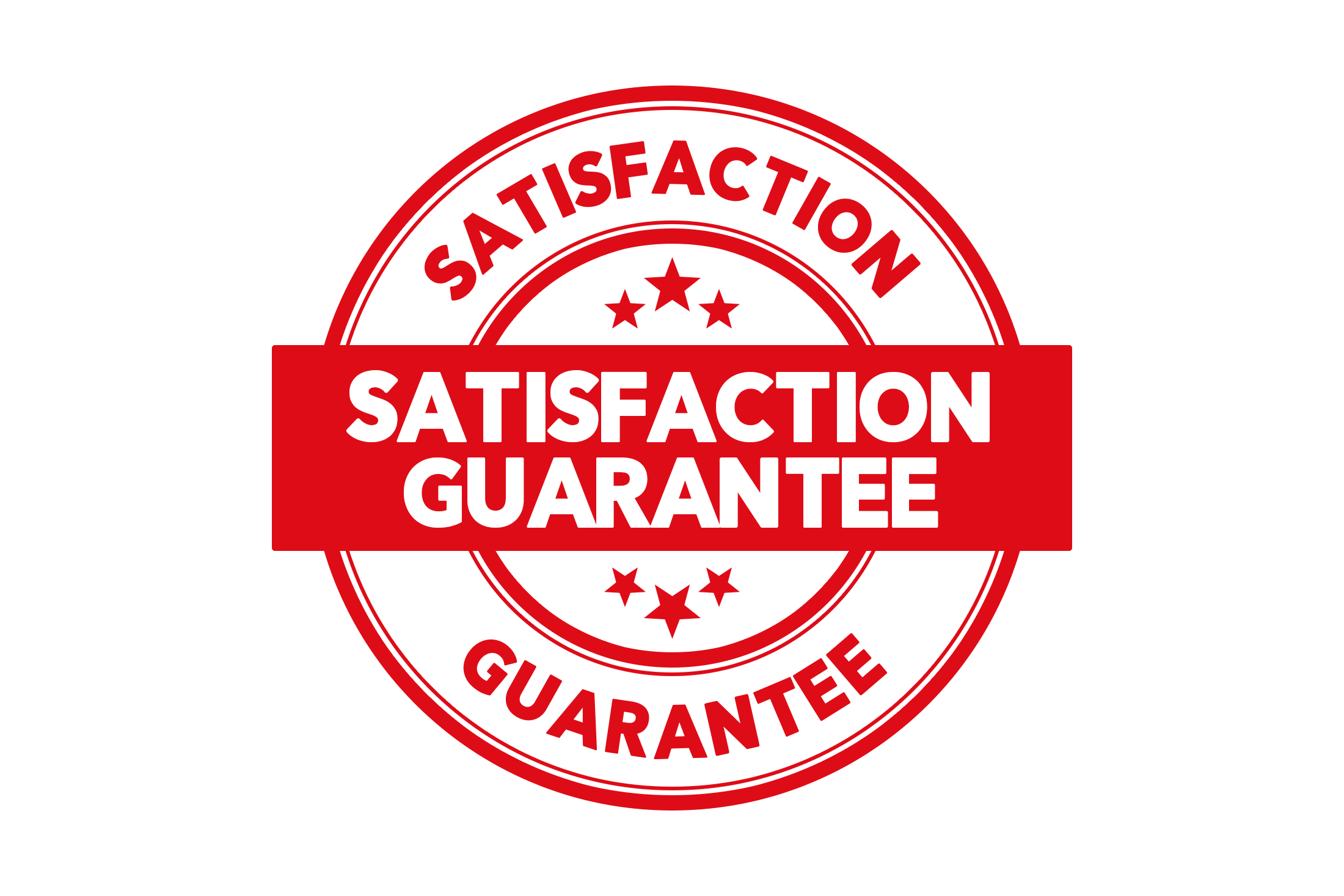Round satisfaction guarantee stamp PSD