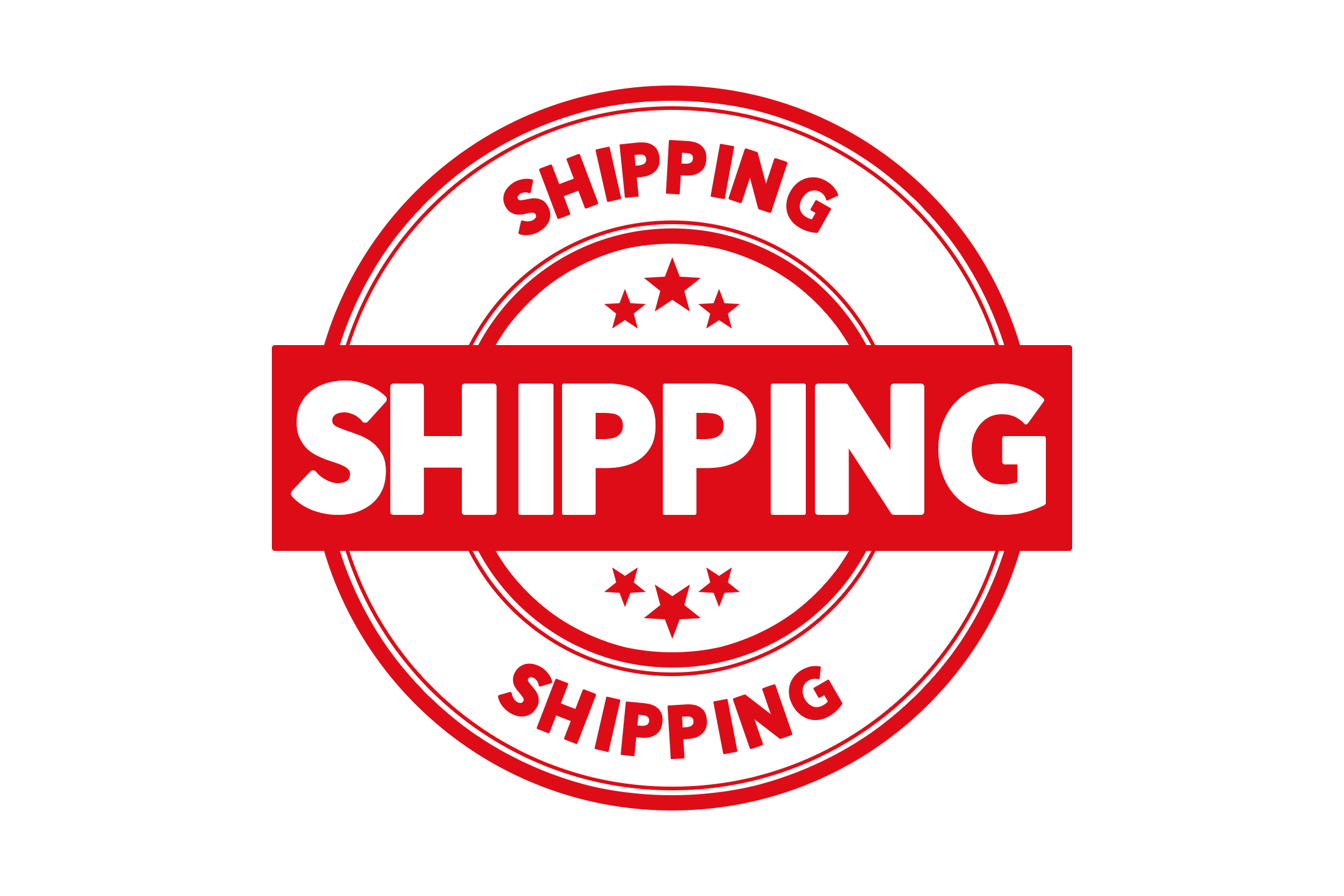 Round shipping stamp PSD