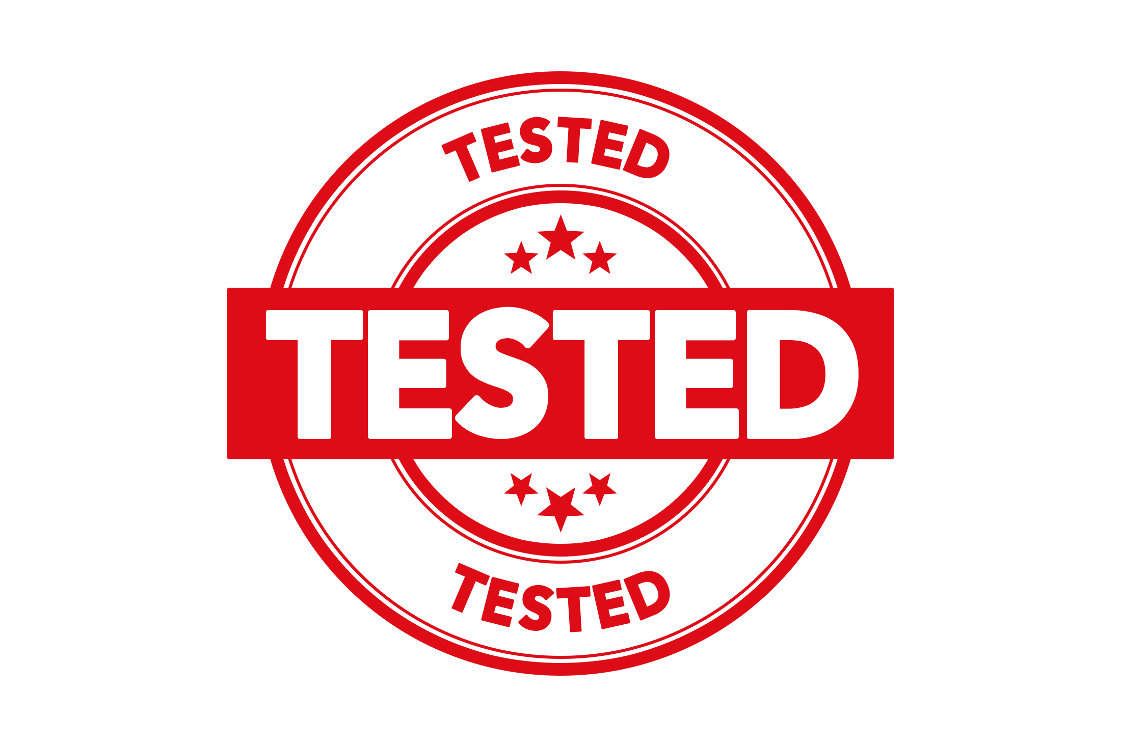 Round tested stamp PSD