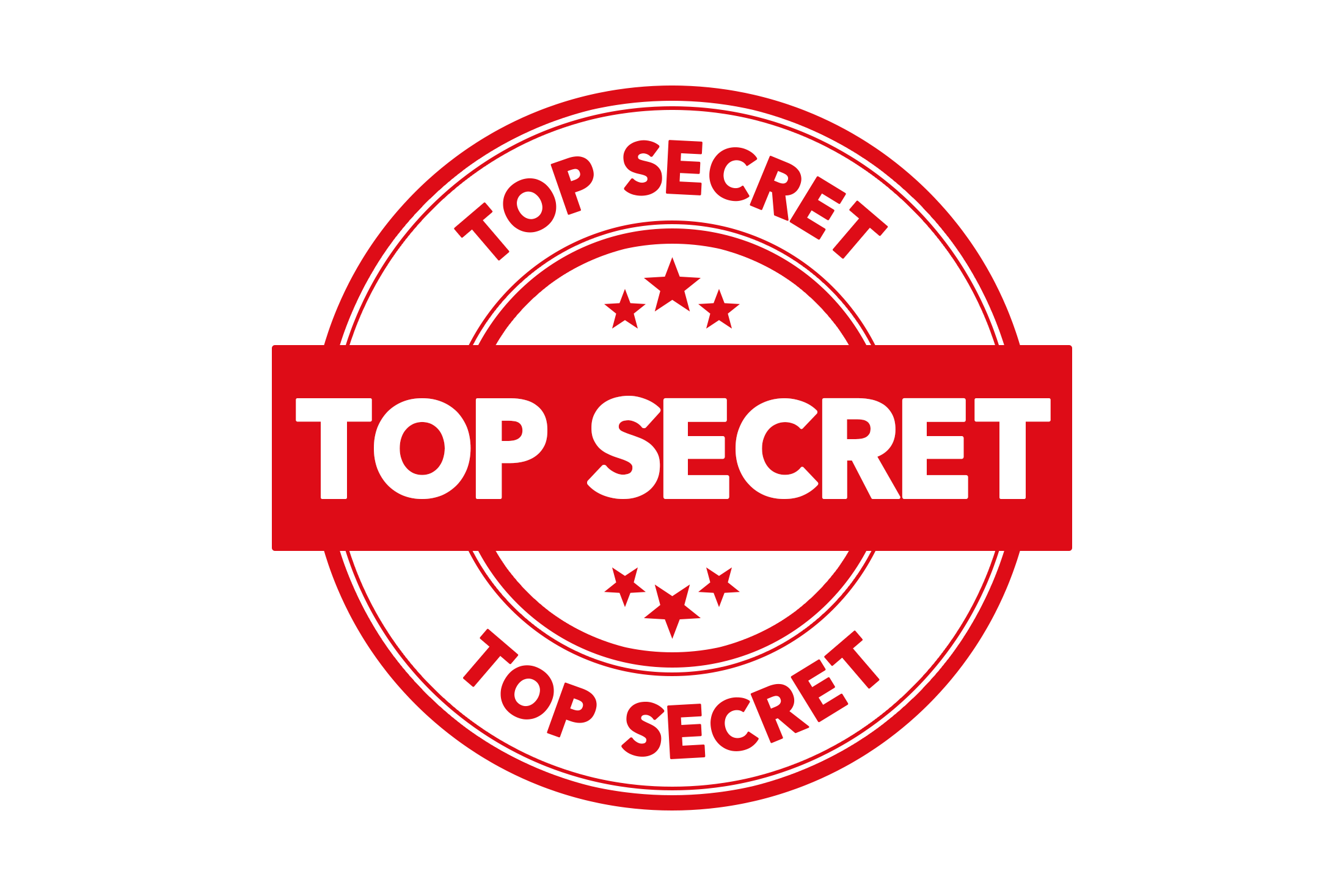 Round top secret stamp PSD