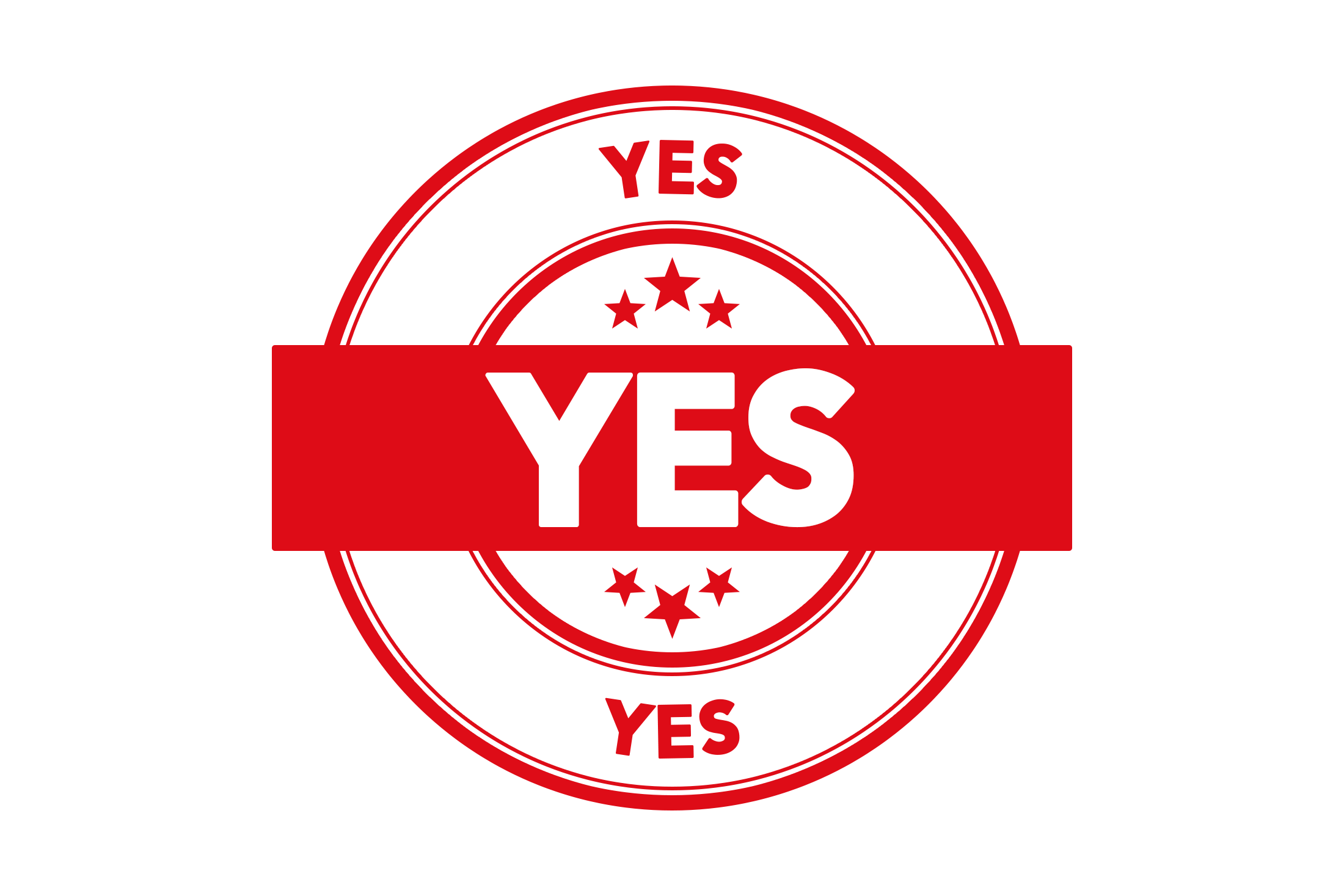 Round yes stamp PSD