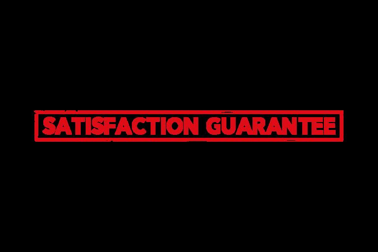 Satisfaction guarantee stamp PSD