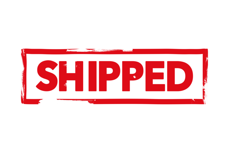 Shipped stamp PSD