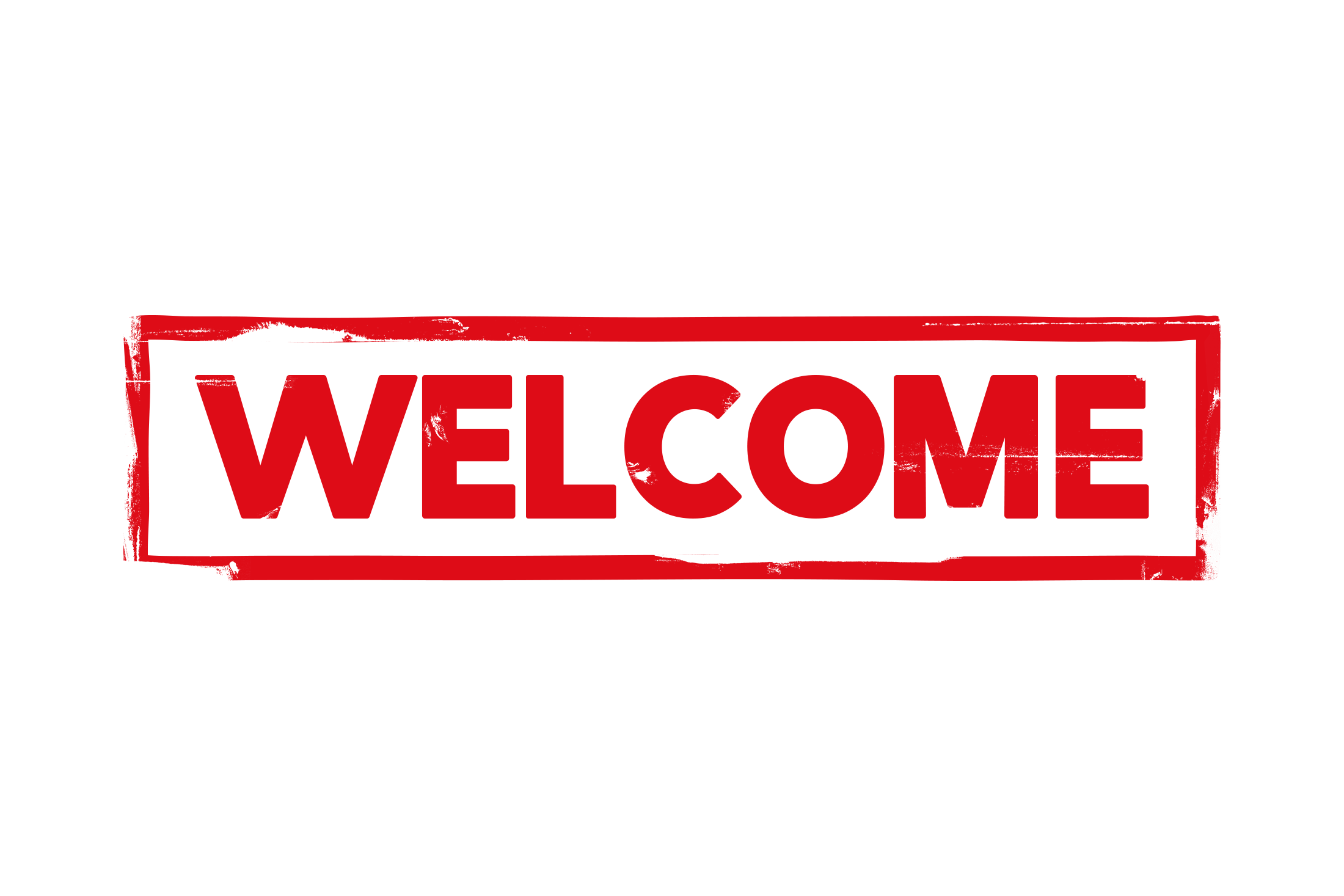 Welcome stamp PSD