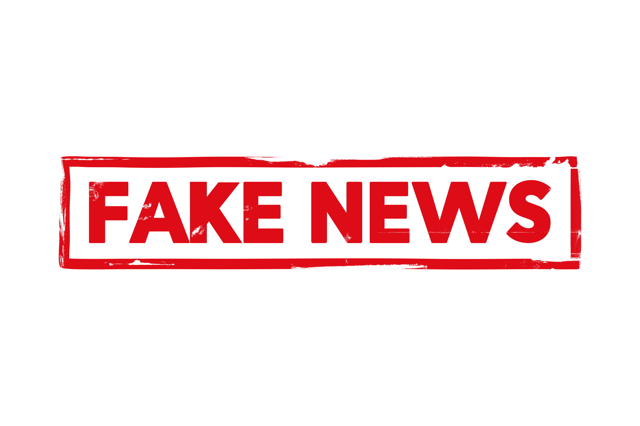 Fake news stamp PSD