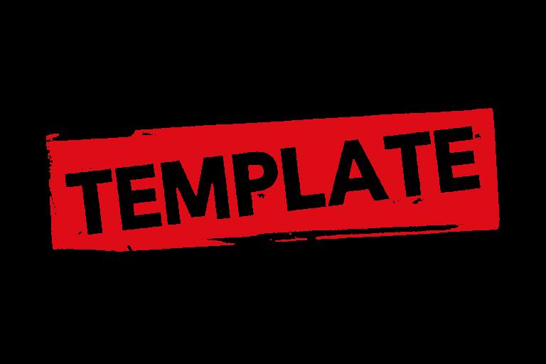 Grunge template label PSD