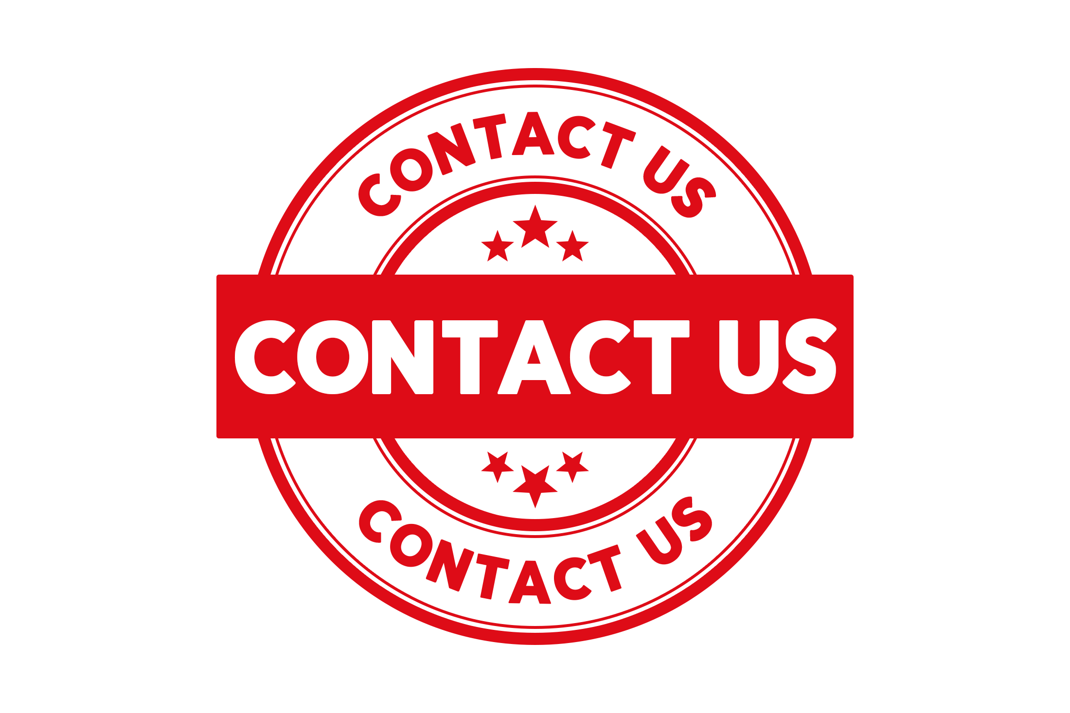 Round contact us stamp PSD
