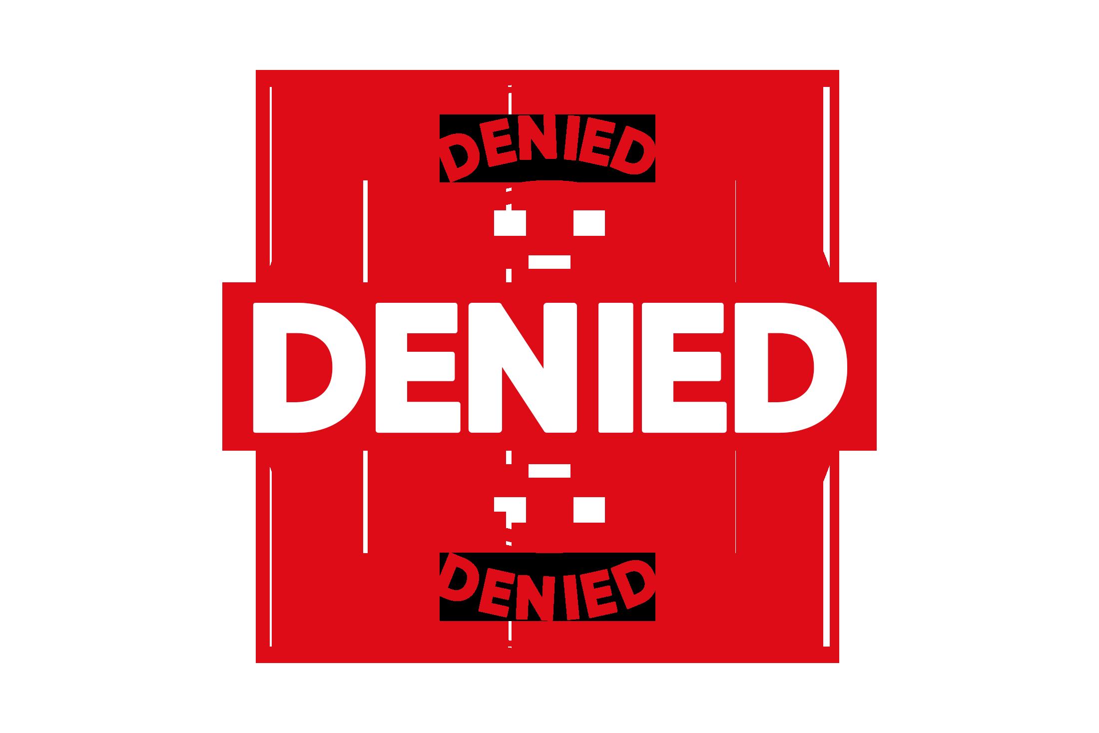 Round denied stamp PSD