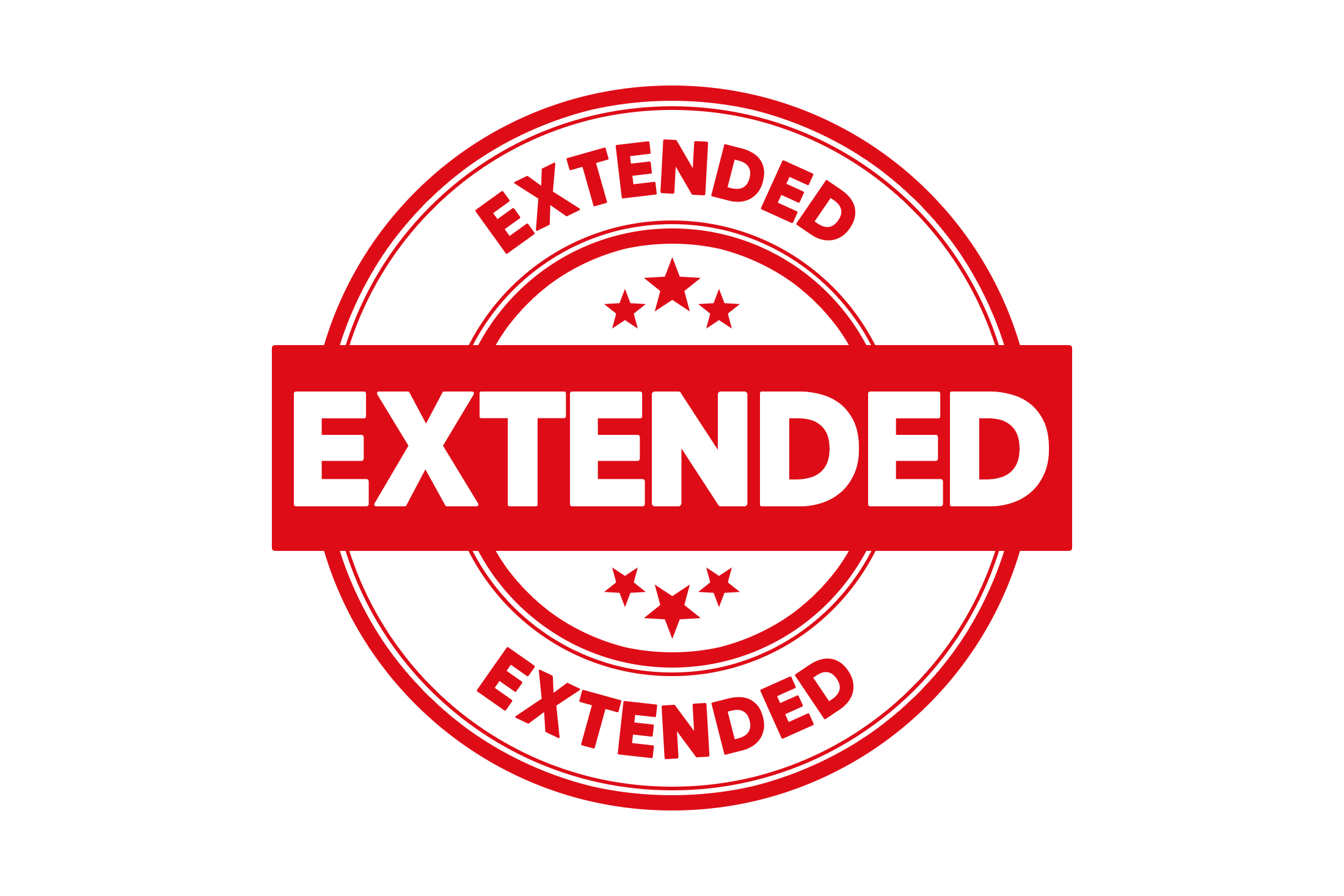 Round extended stamp PSD
