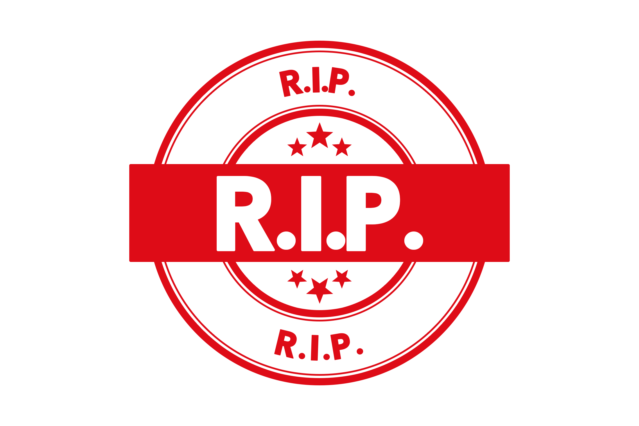 Round r.i.p. stamp PSD