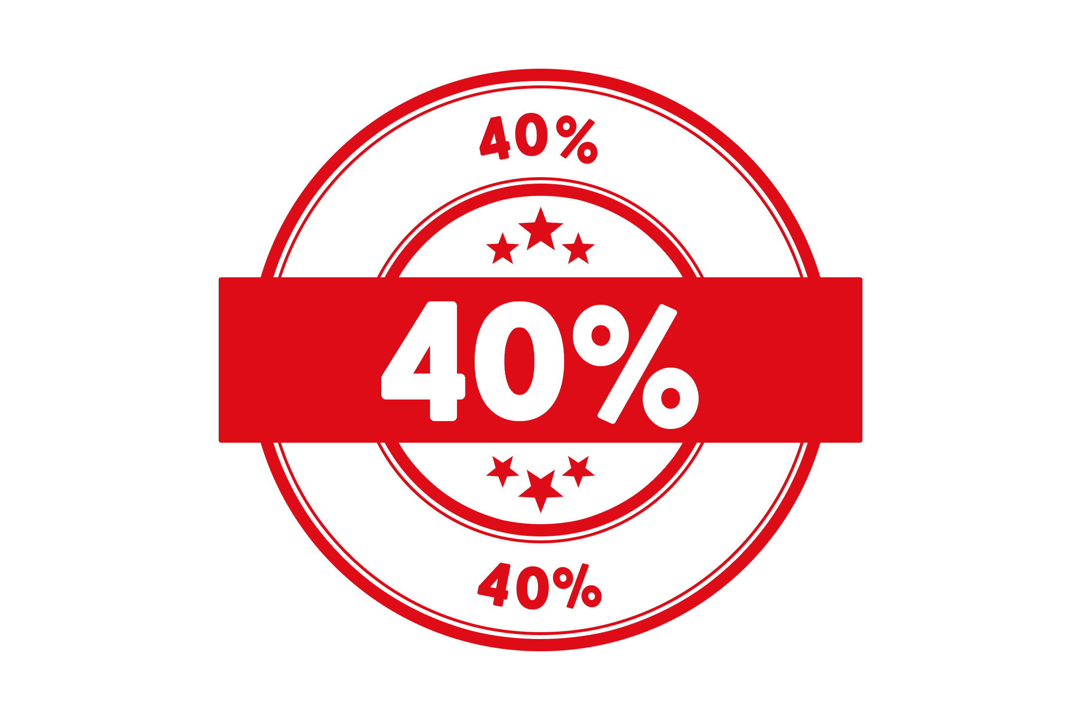 Round 40 percent stamp PSD