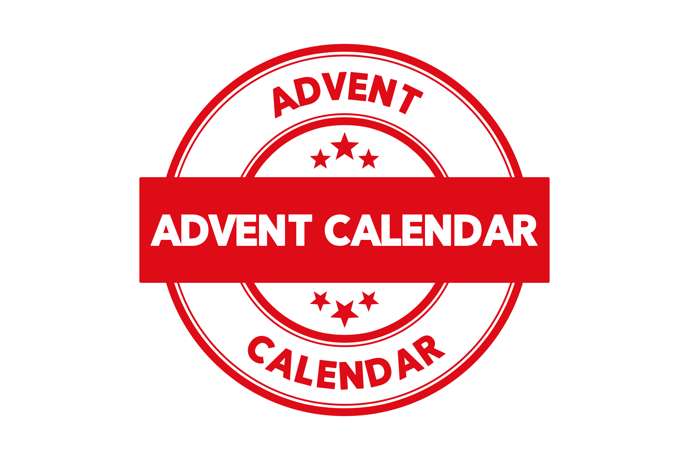 Round advent calendar stamp PSD