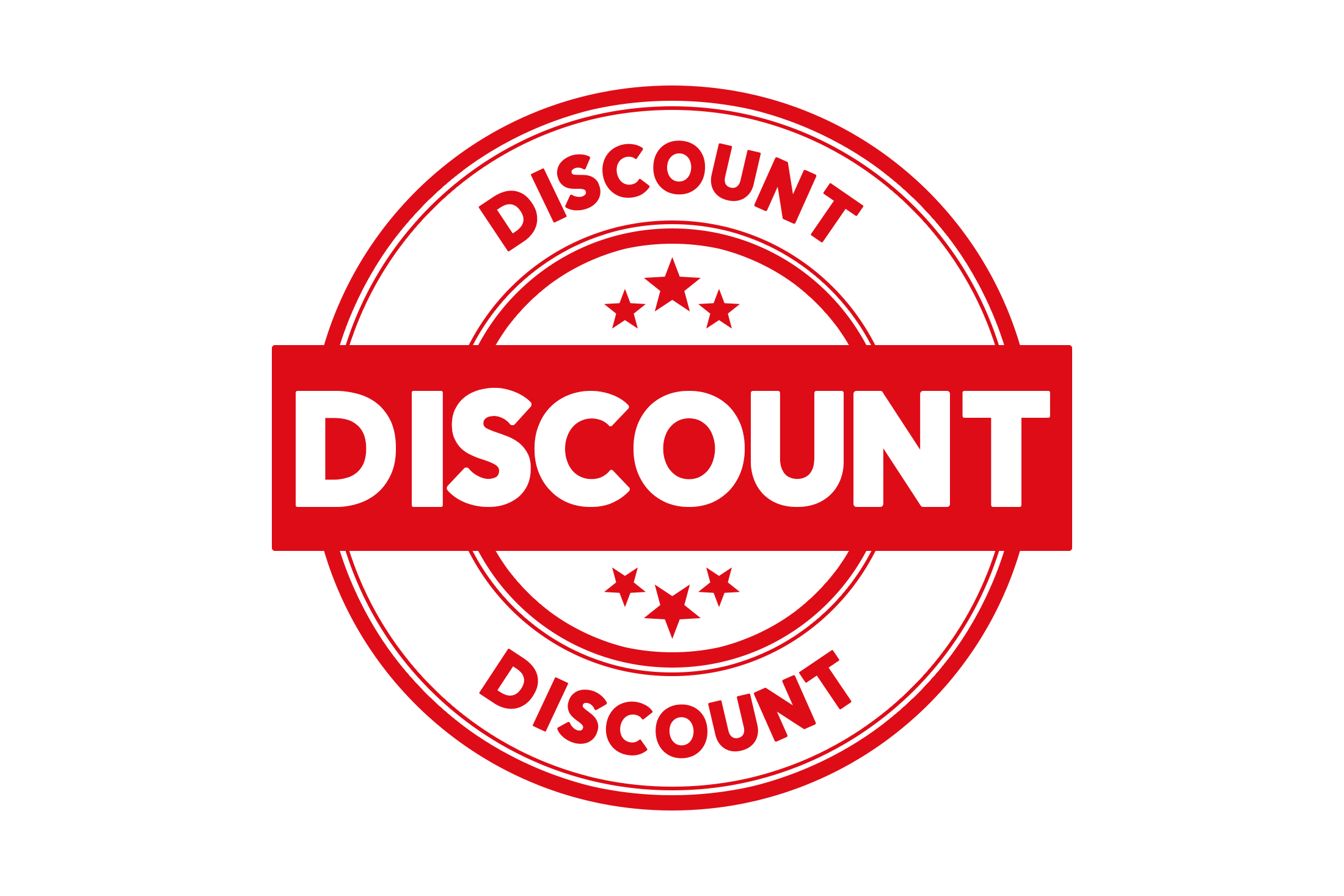 Round discount stamp PSD