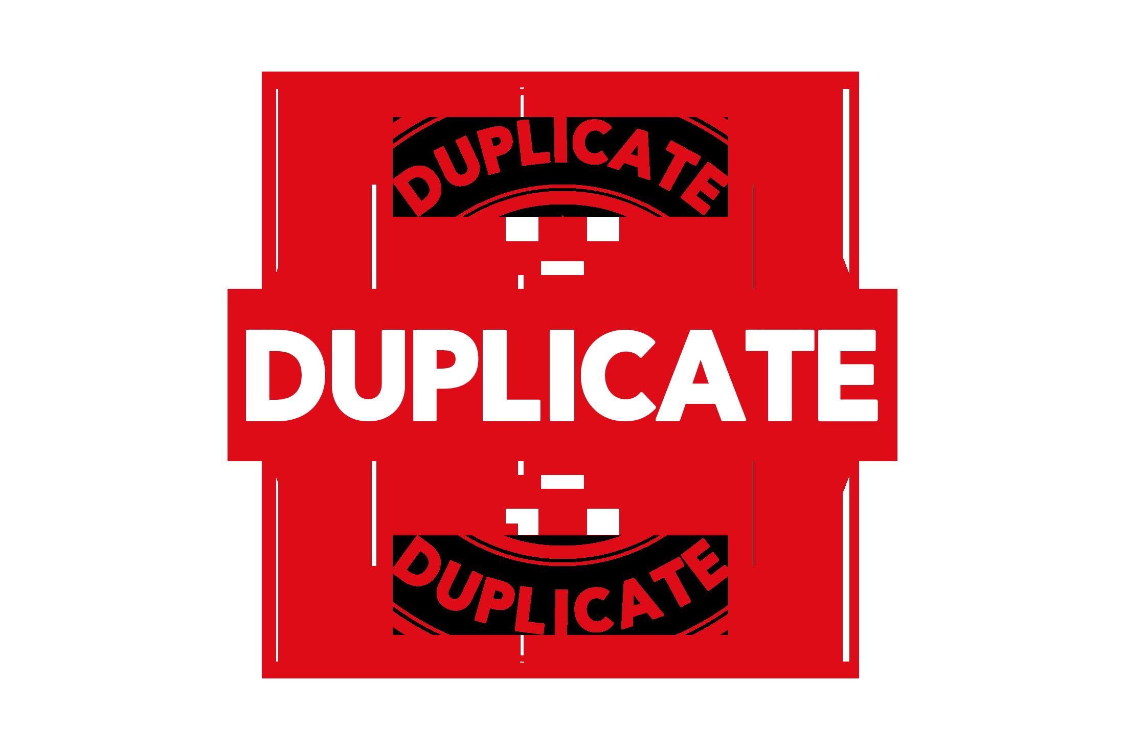 Round duplicate stamp PSD