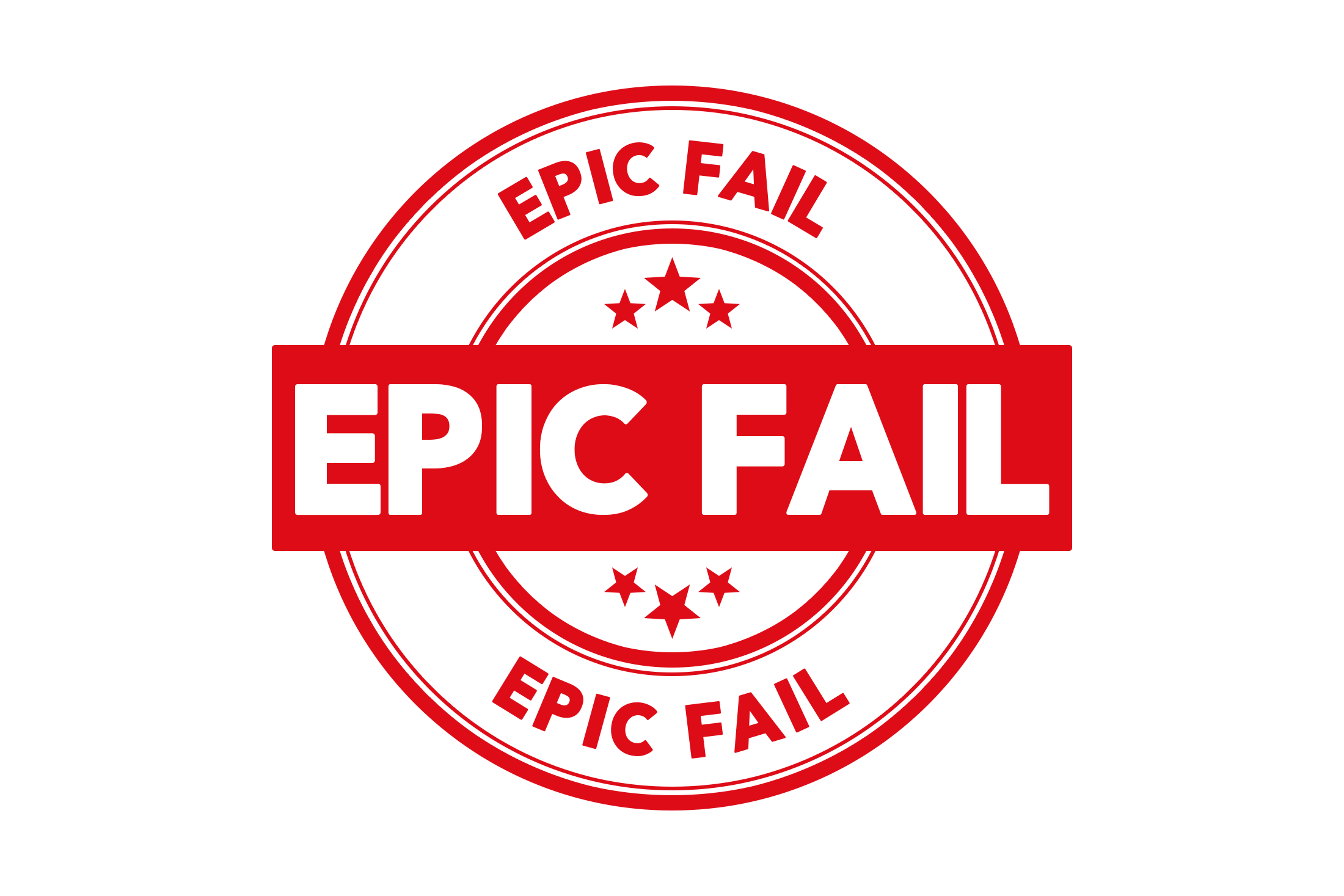 Round epic fail stamp PSD