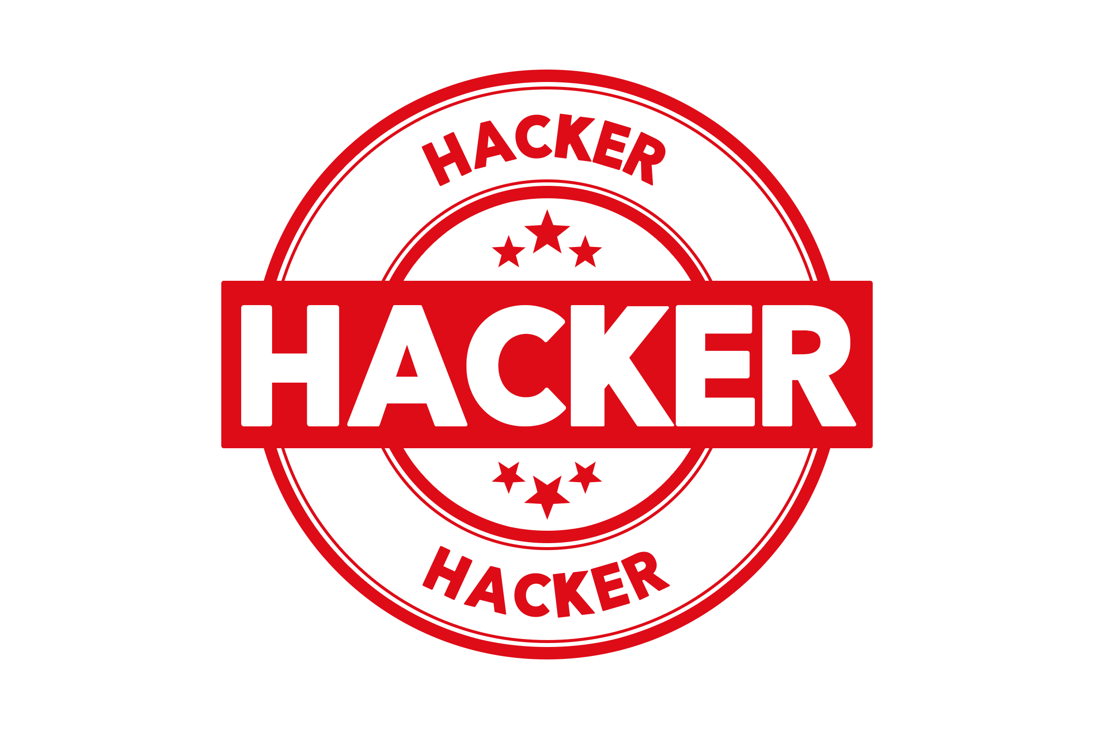 Round hacker stamp PSD