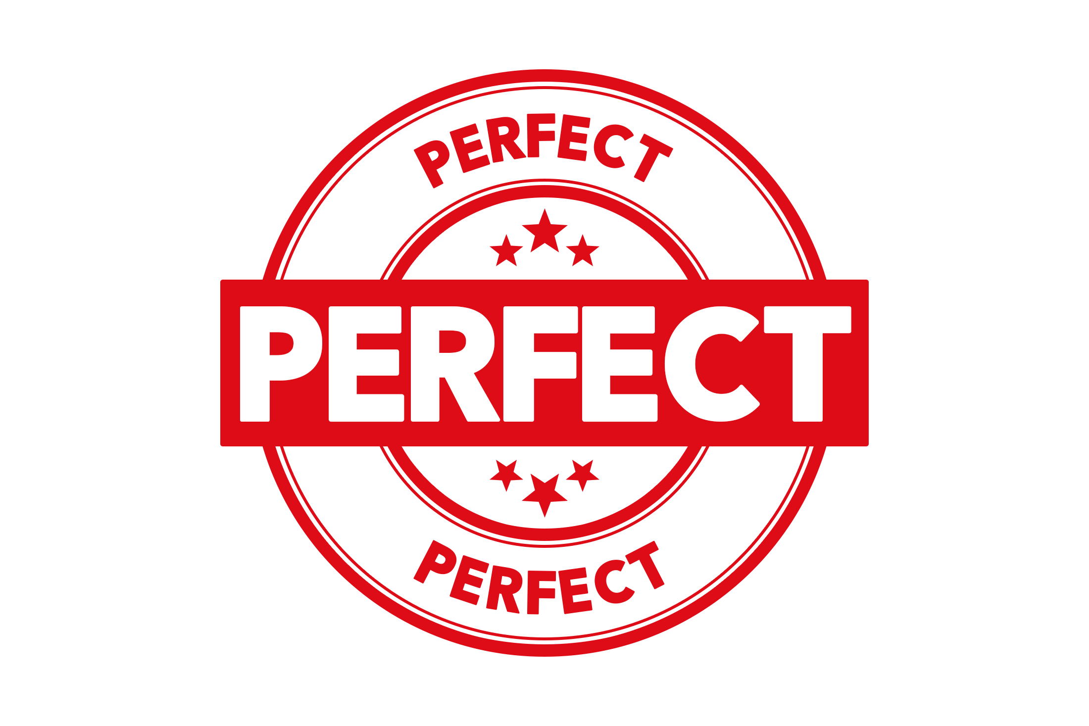 Round perfect stamp PSD
