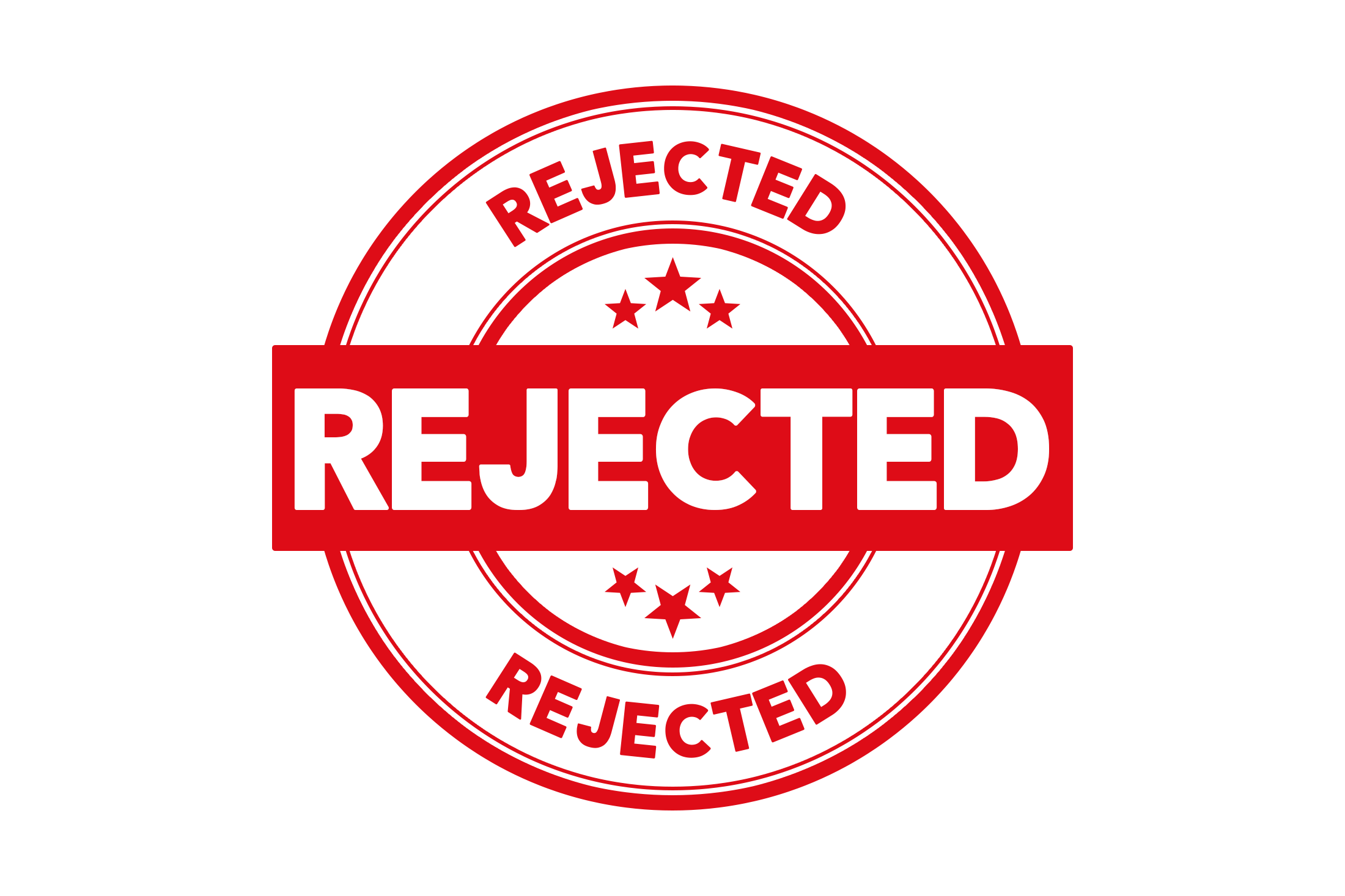 Round rejected stamp PSD