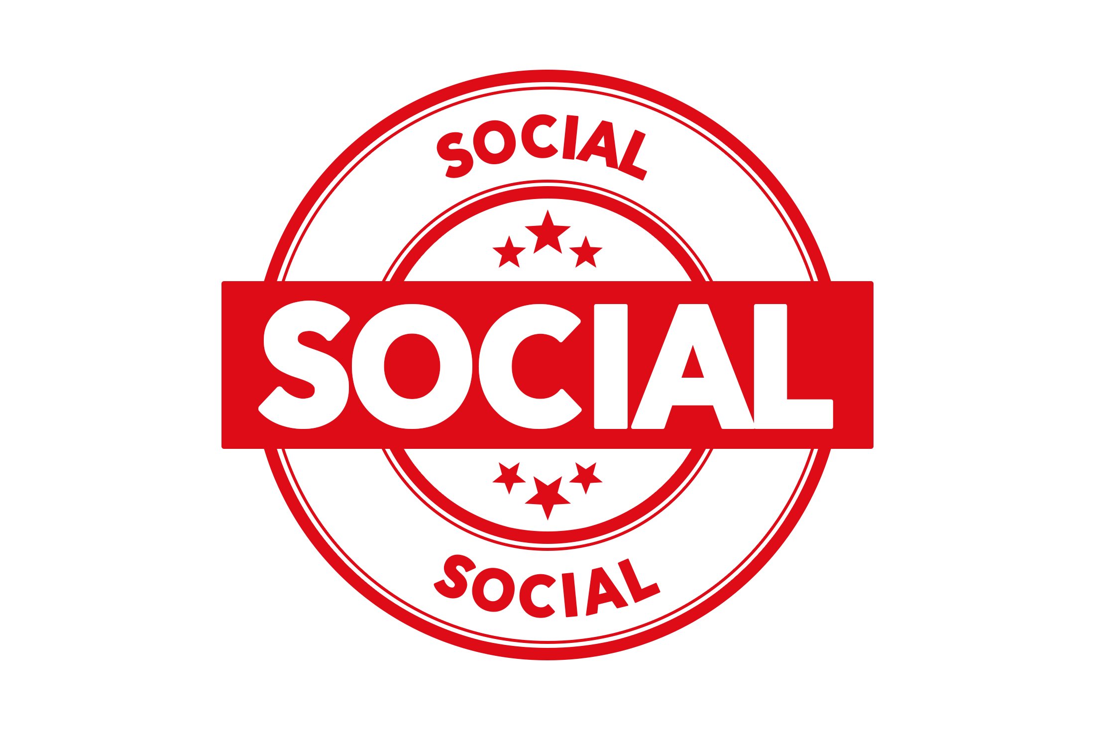 Round social stamp PSD