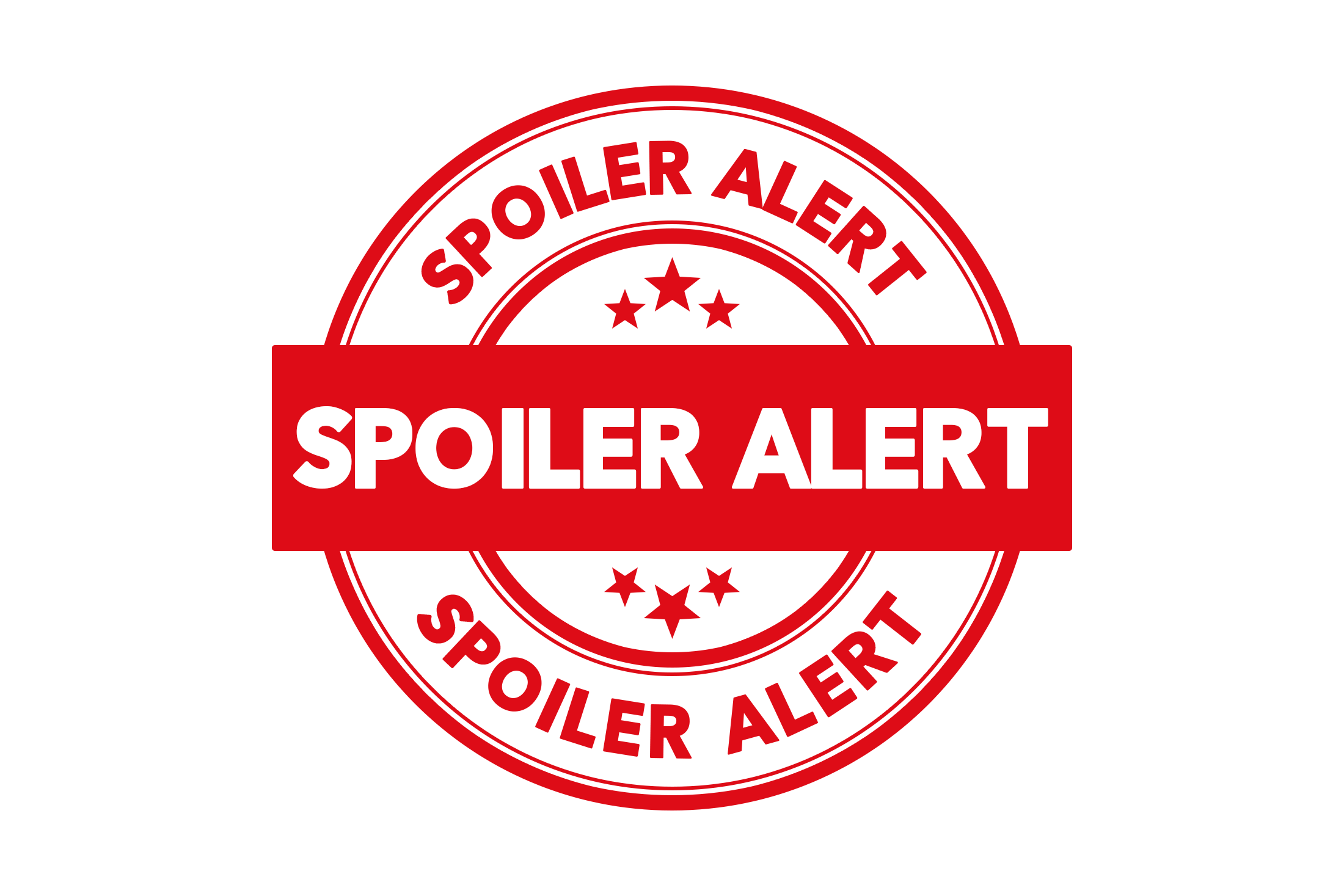 Round spoiler alert stamp PSD