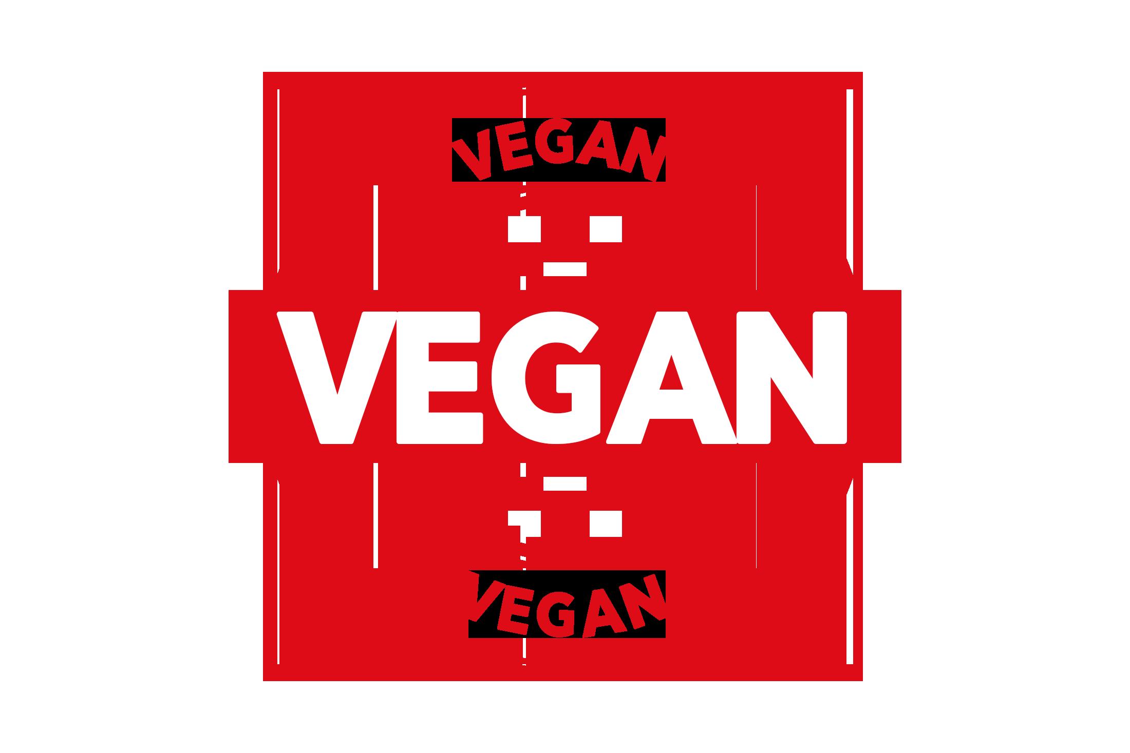 Round vegan stamp PSD