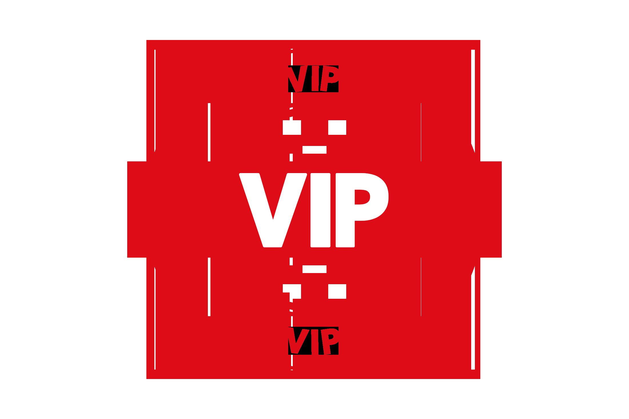 Round vip stamp PSD