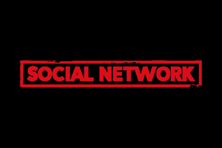 Social network stamp PSD