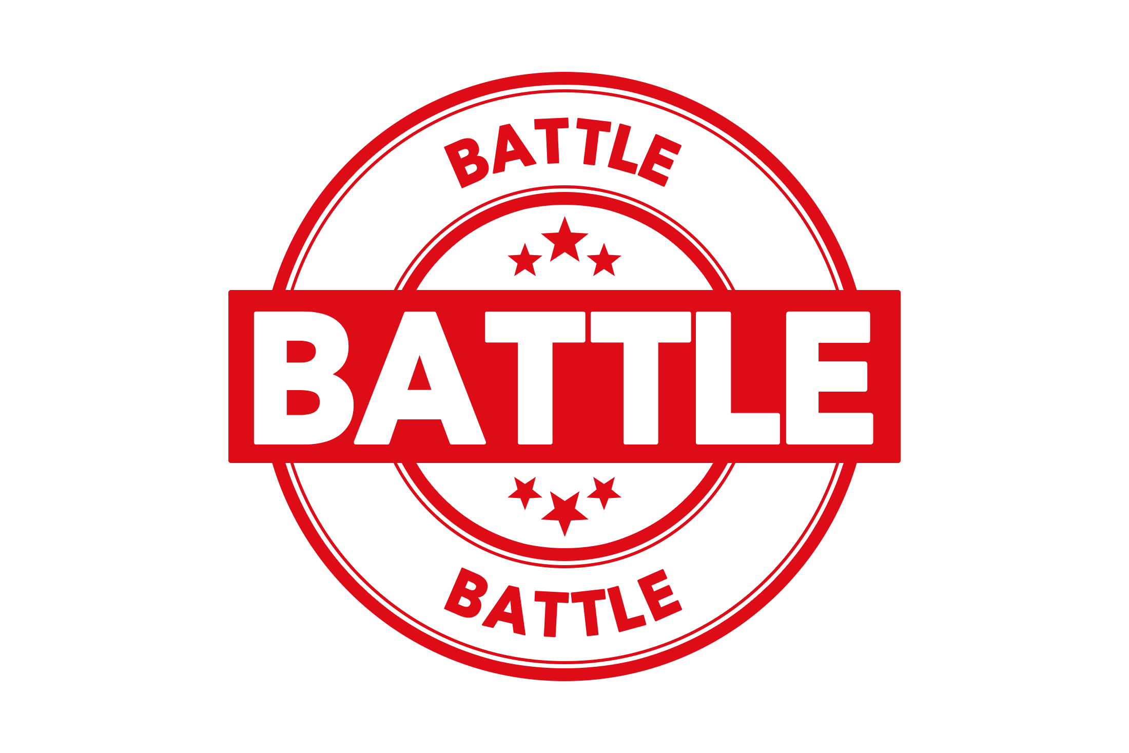 Round battle stamp PSD