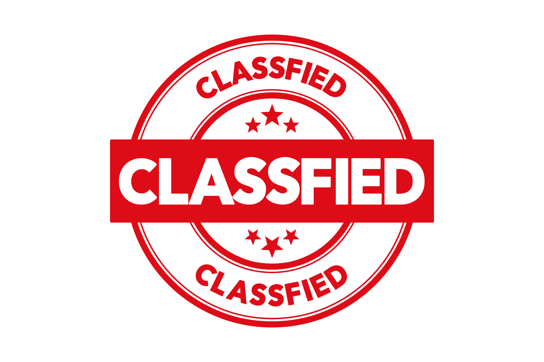 Round classfied stamp PSD