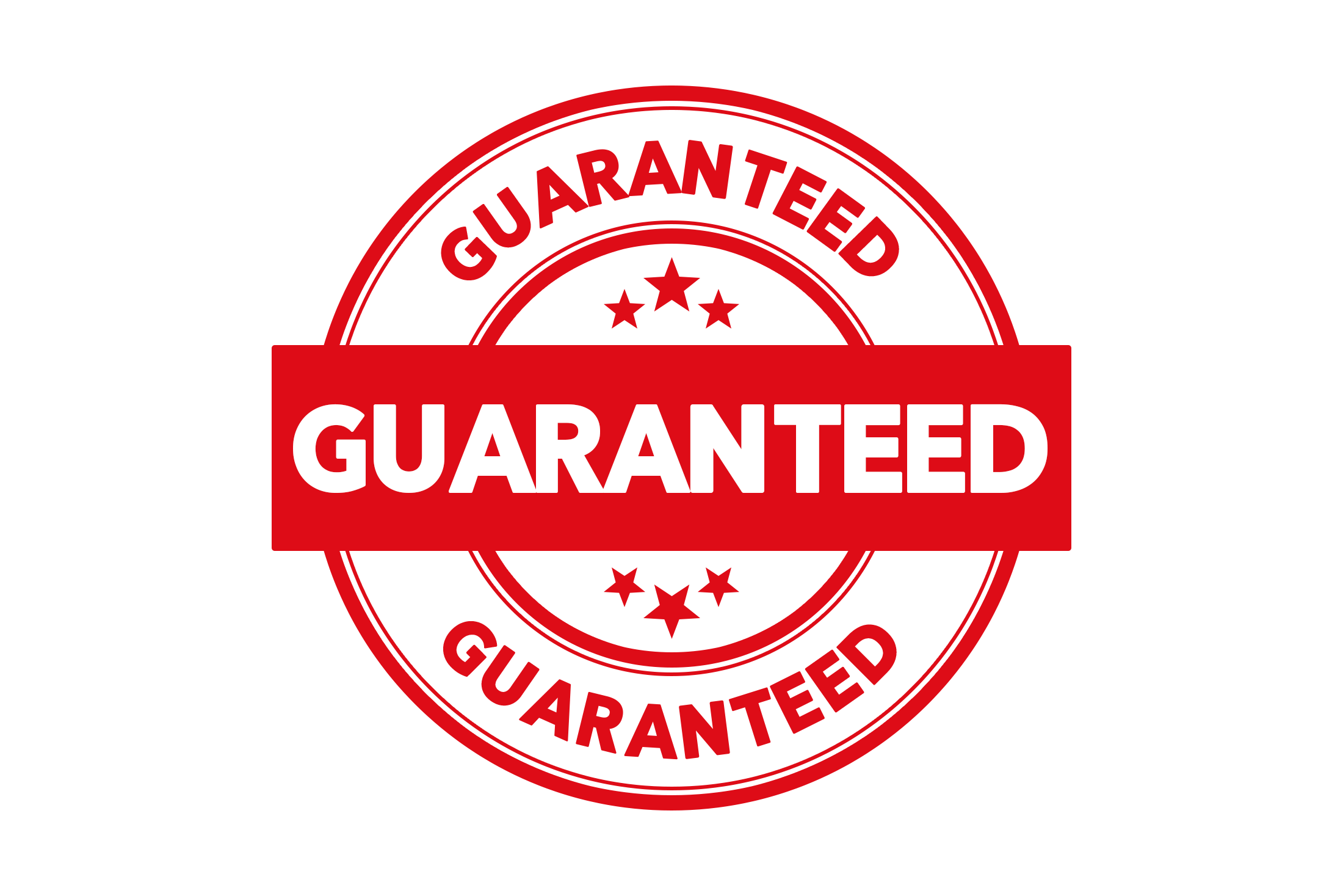 Round guaranteed stamp PSD