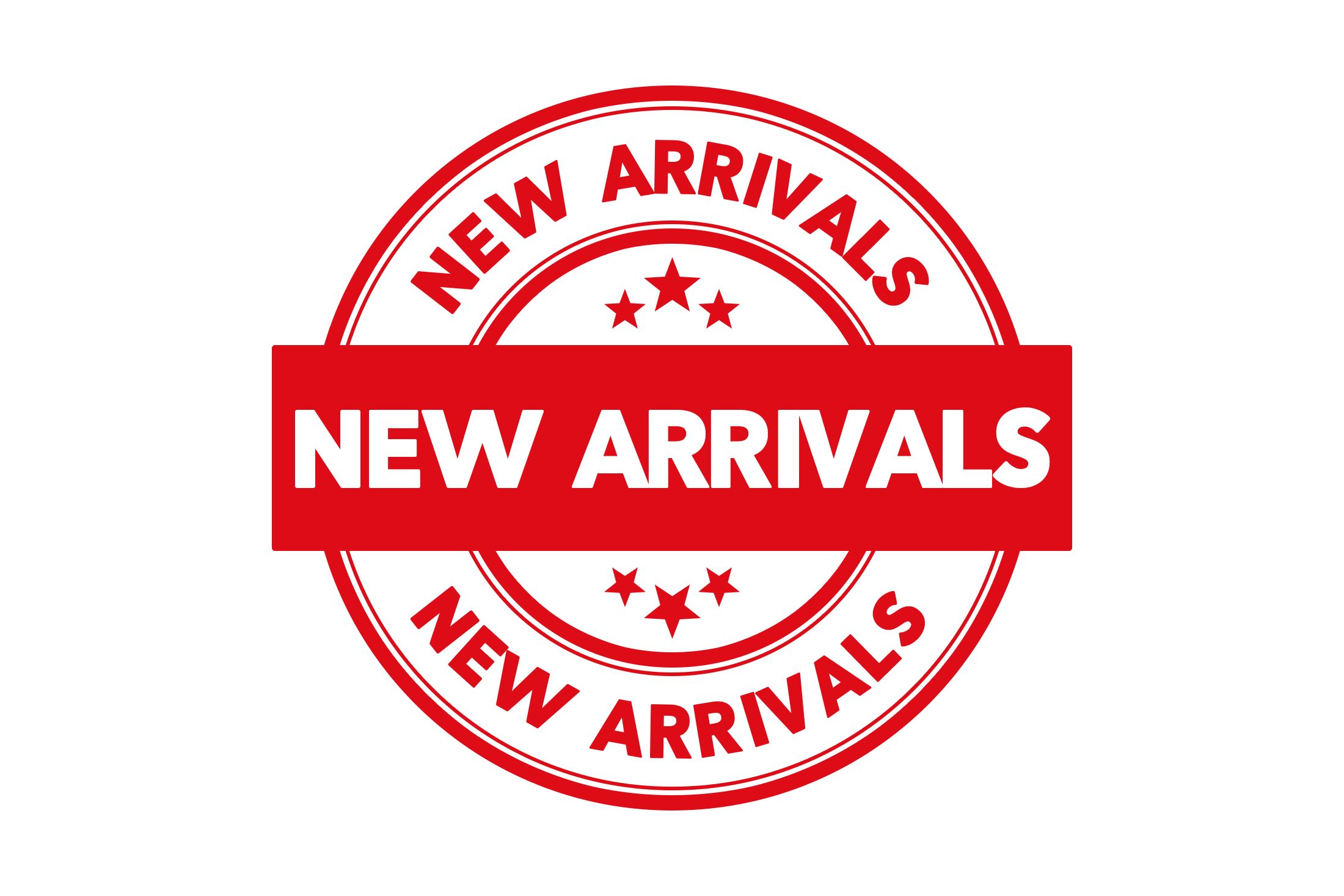 Round new arrivals stamp PSD