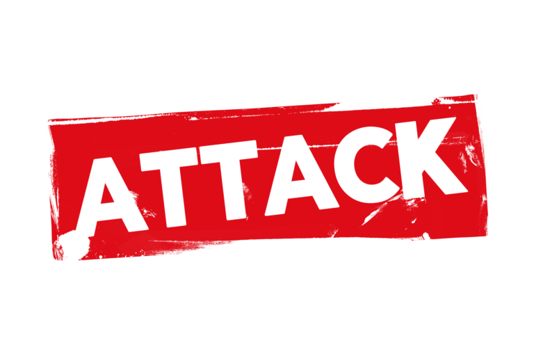 Grunge attack label PSD